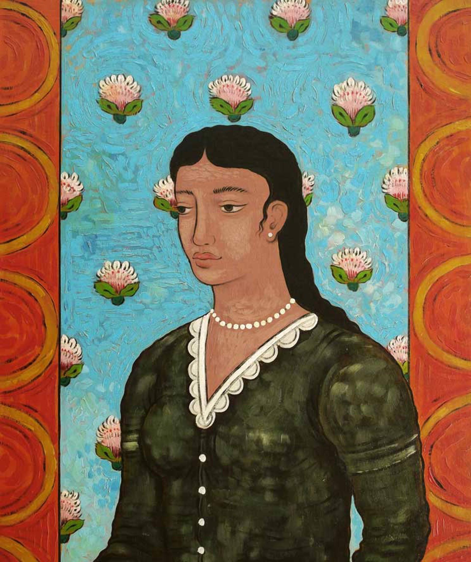 Woman in Black Dress by Mark Briscoe