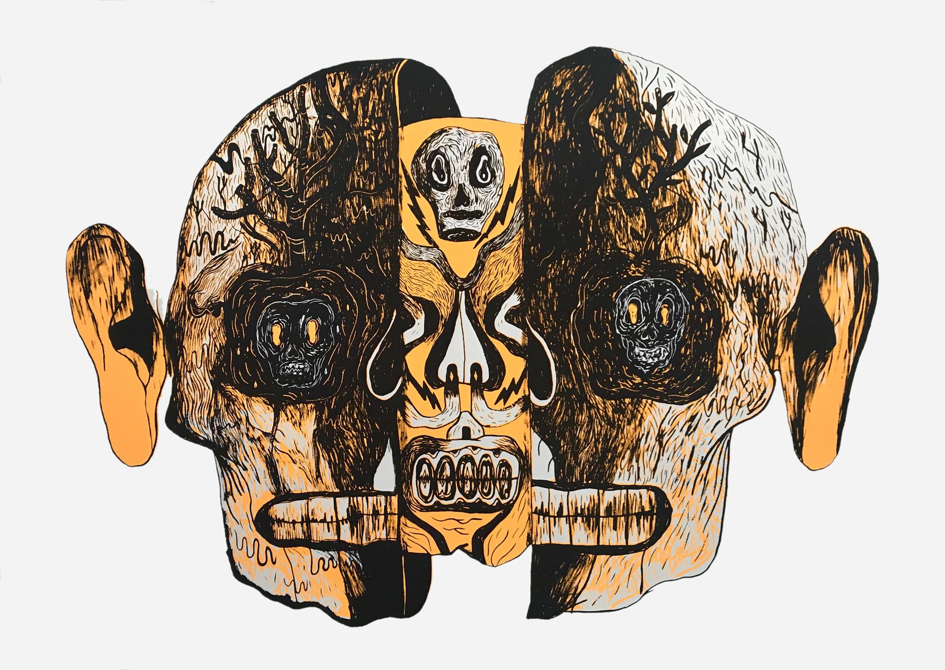 Máscara (Framed) by Alfonso Barrera