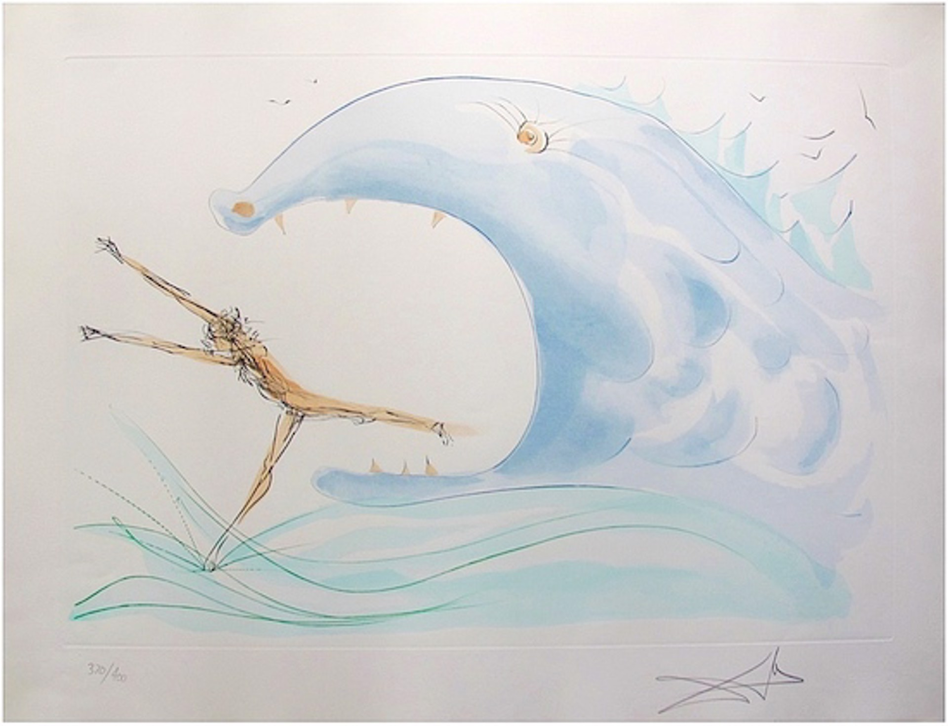 Jonah and the Whale (from Our Historical Heritage, suite of 11) by Salvador Dali