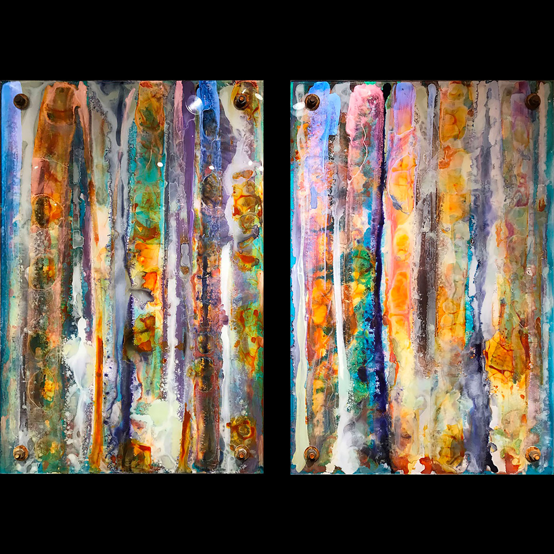 You don't know (the depth of my soul)  (diptych) by Robert Ichter