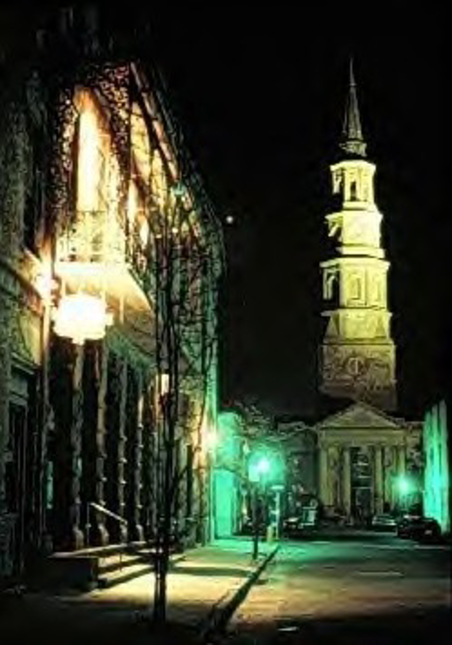 Church Street at Night by Ron Rocz