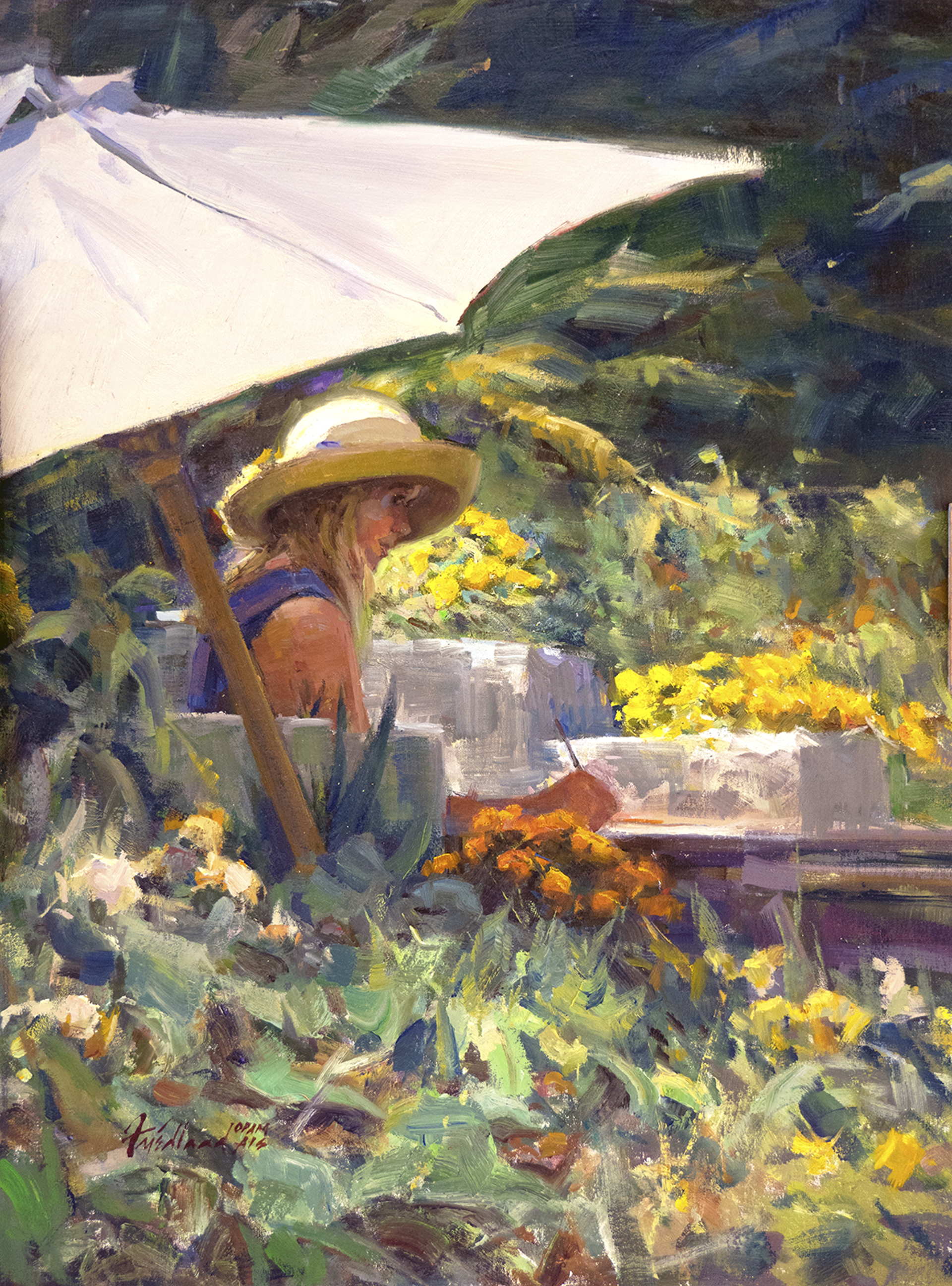 Plein Air Girl by Howard Friedland, OPAM