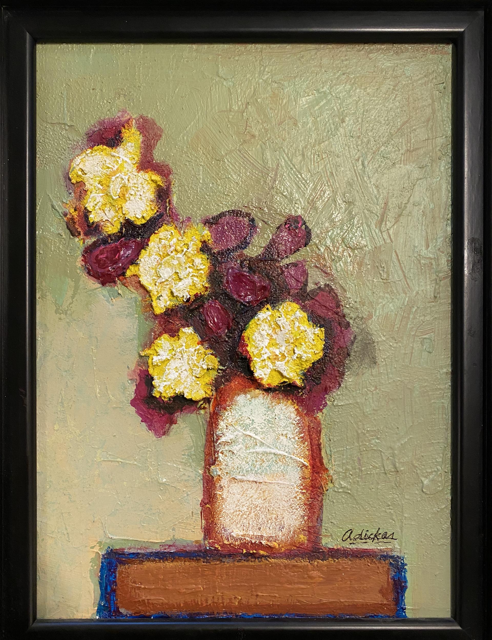 Four Yellow Flowers by David Adickes