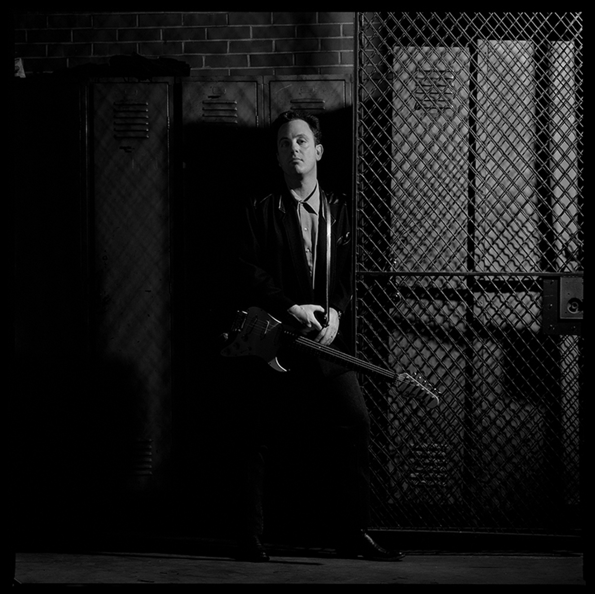 89196 Billy Joel Locker Room BW by Timothy White
