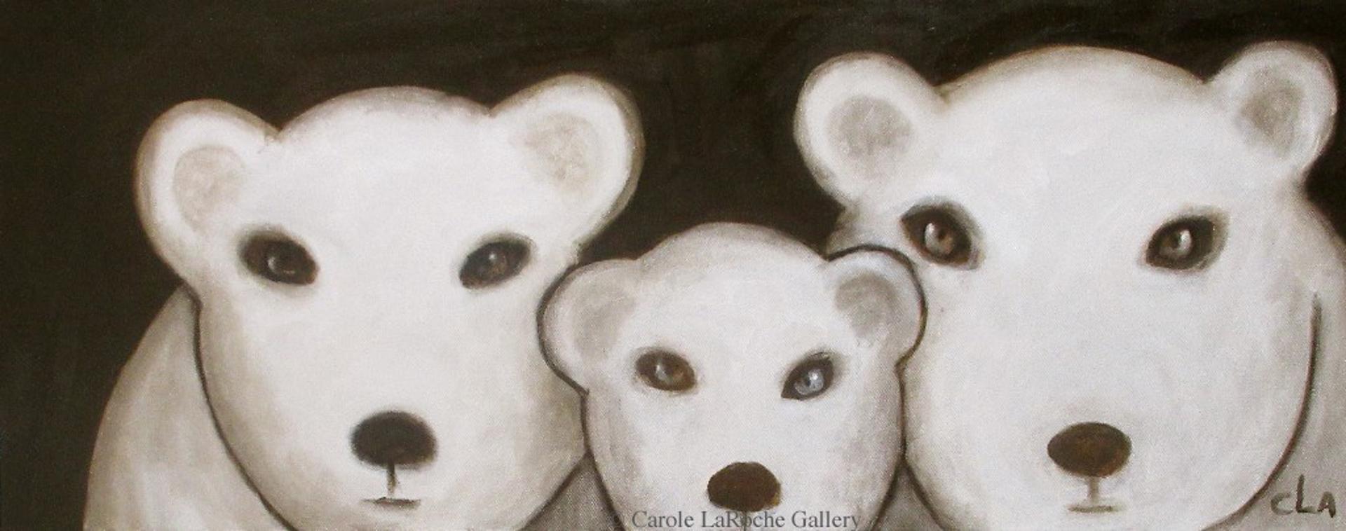 THREE POLAR BEARS by Carole LaRoche