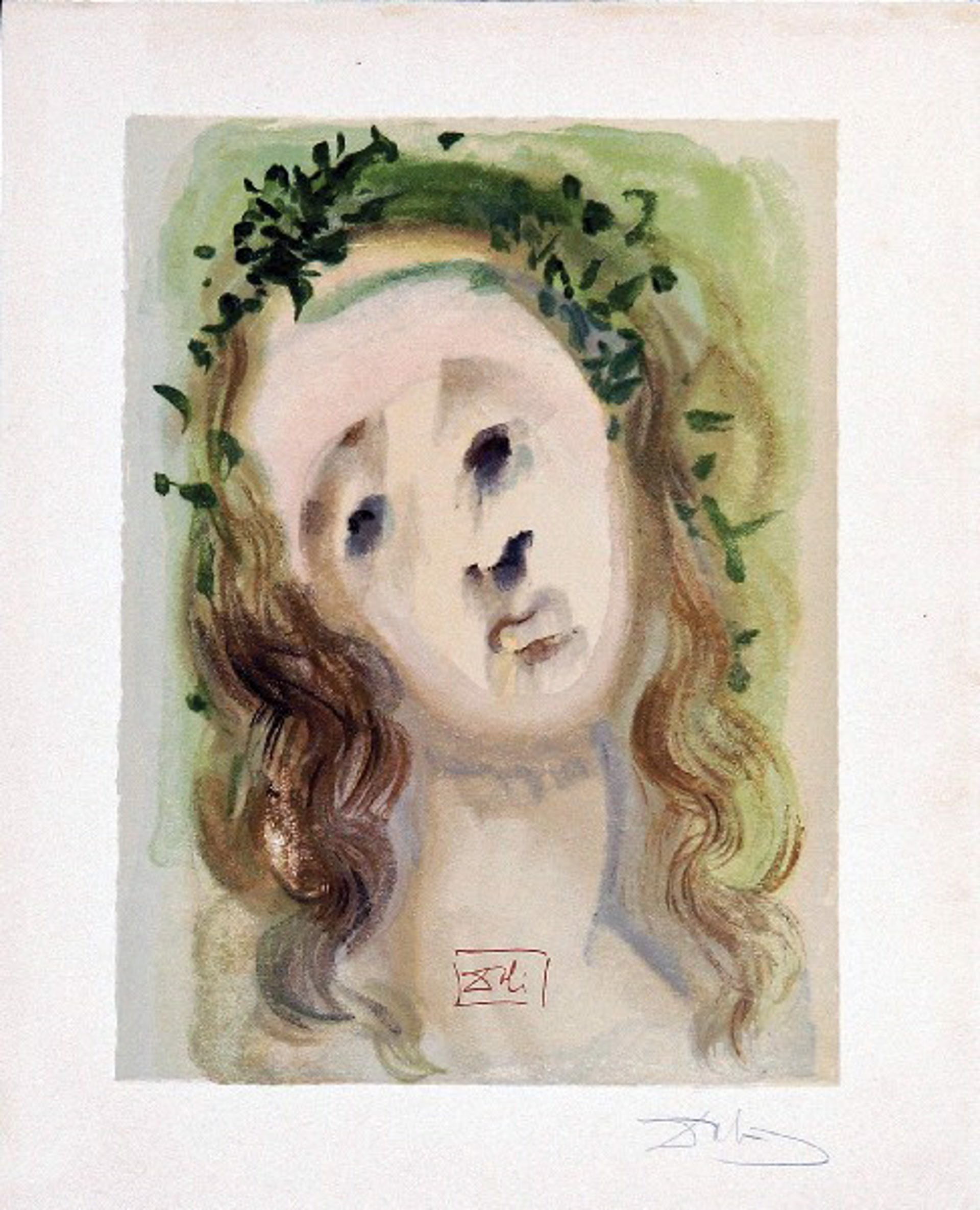 Purgatory Canto 10: The Face of the Virgil from The Divine Comedy by Salvador Dali (1904 - 1989)