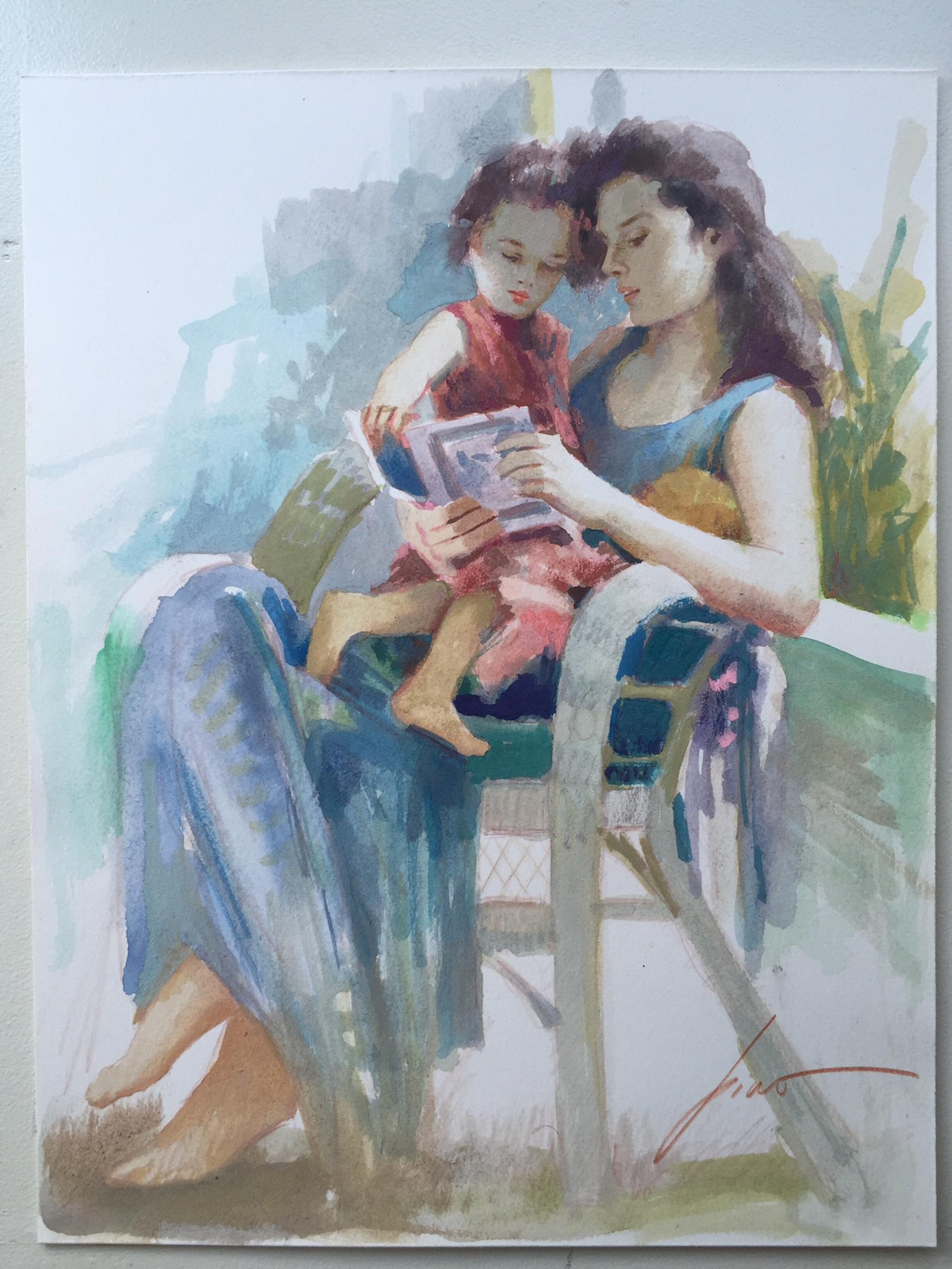 Original Watercolor Release 1 by Pino
