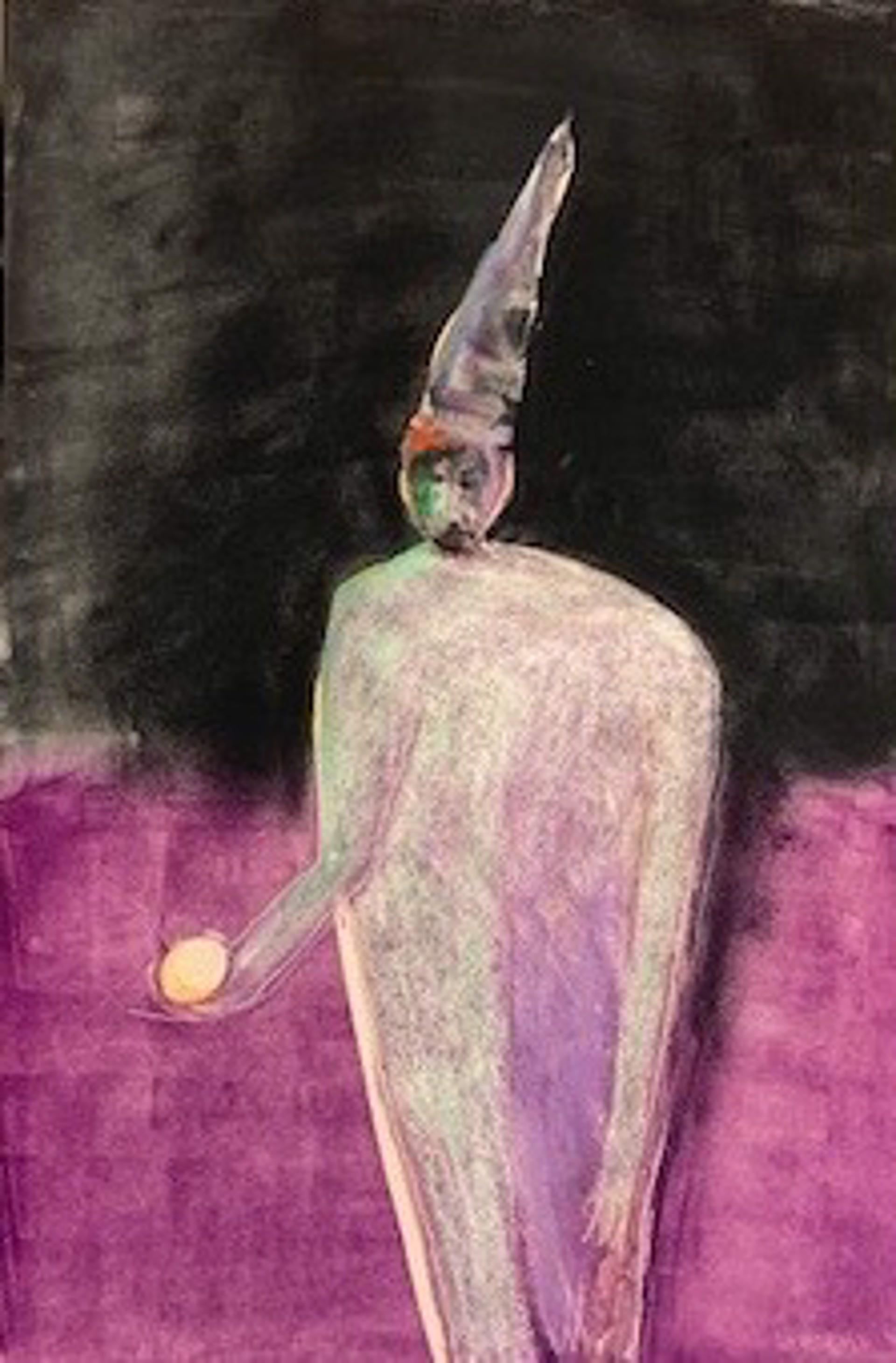 Wizard II - Unframed Monotype/Pastel by Carole LaRoche