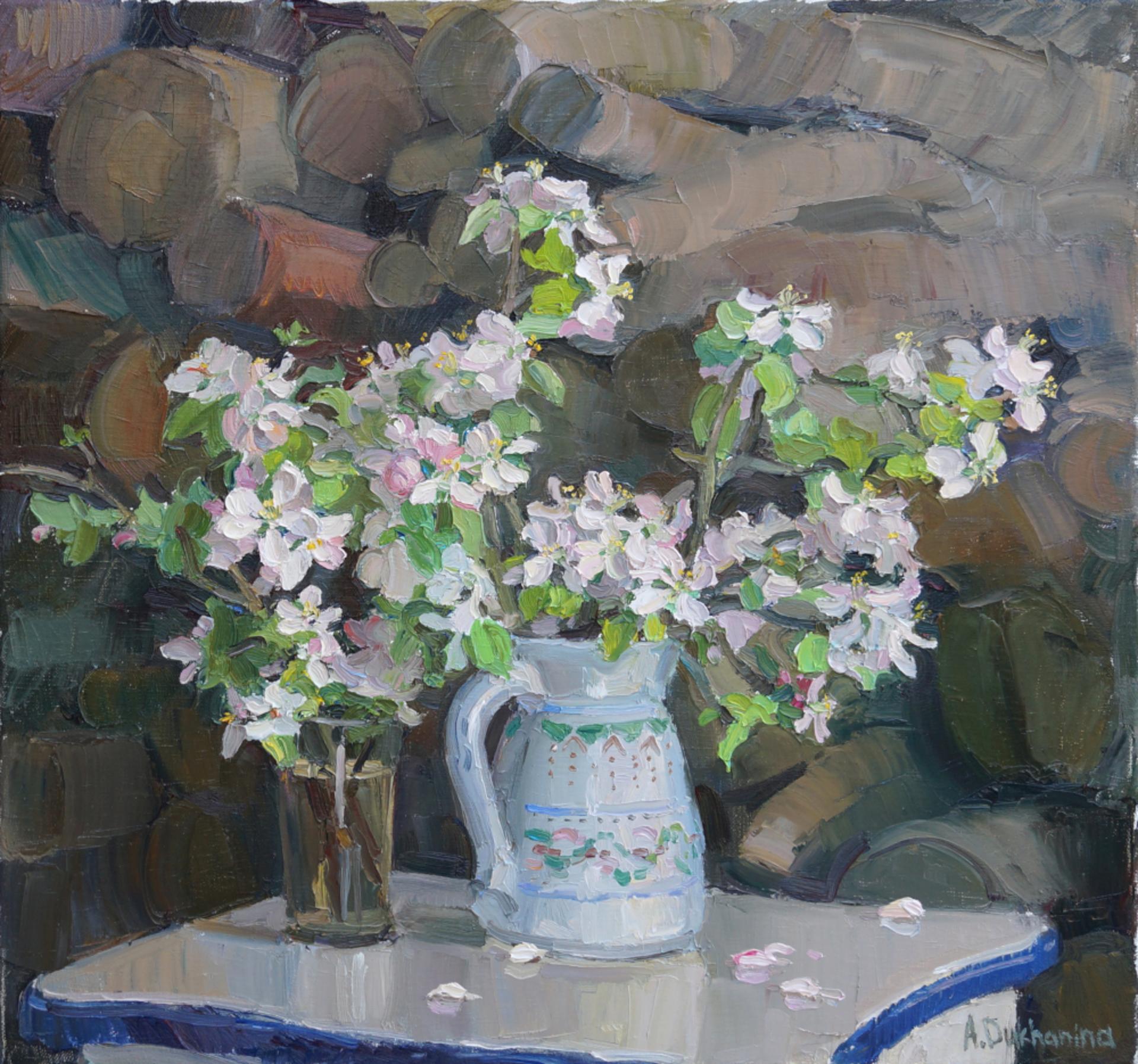 Apple Tree Flowers by Anastasia Dukhanina