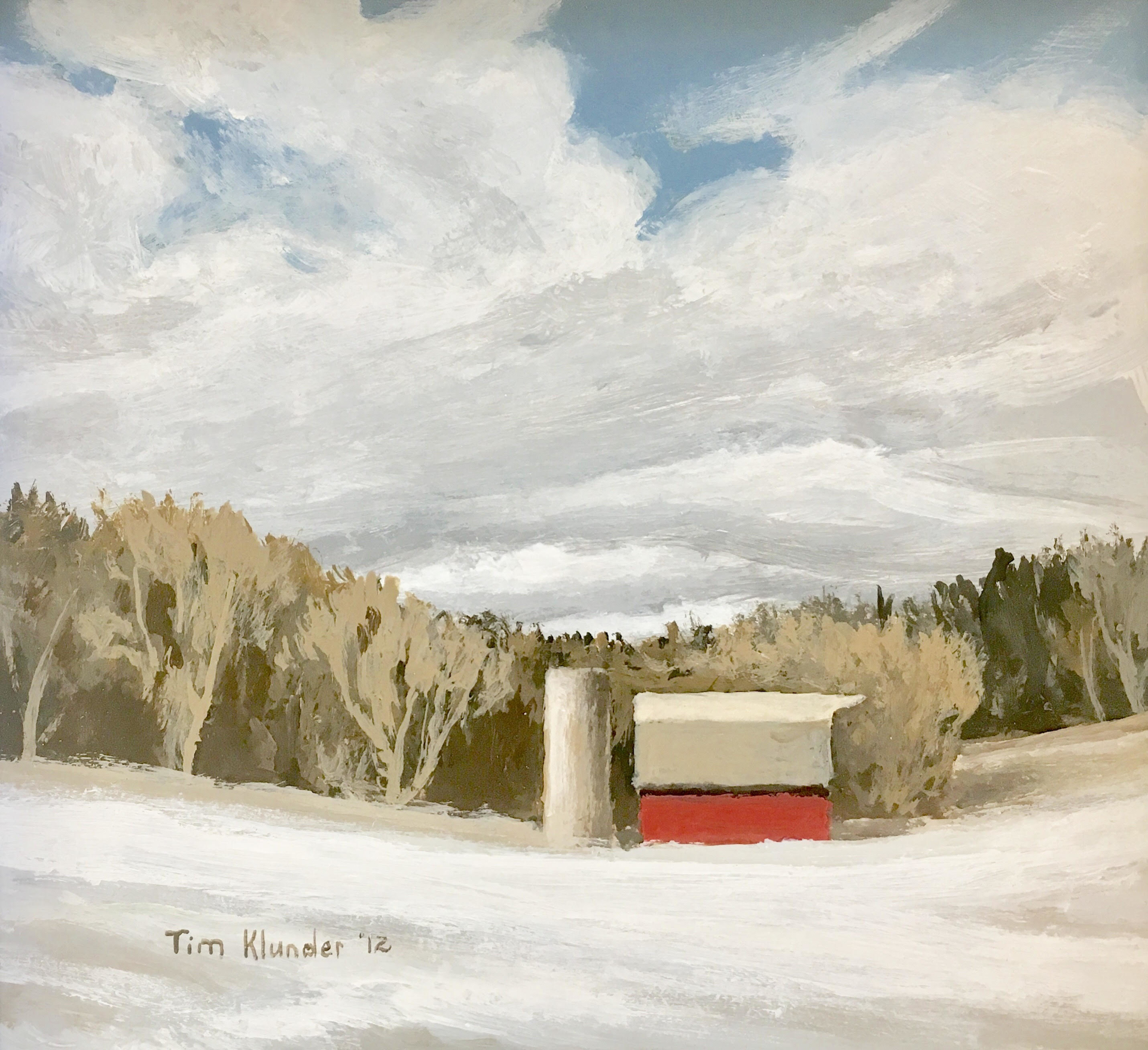Winter Farm Field by Tim Klunder