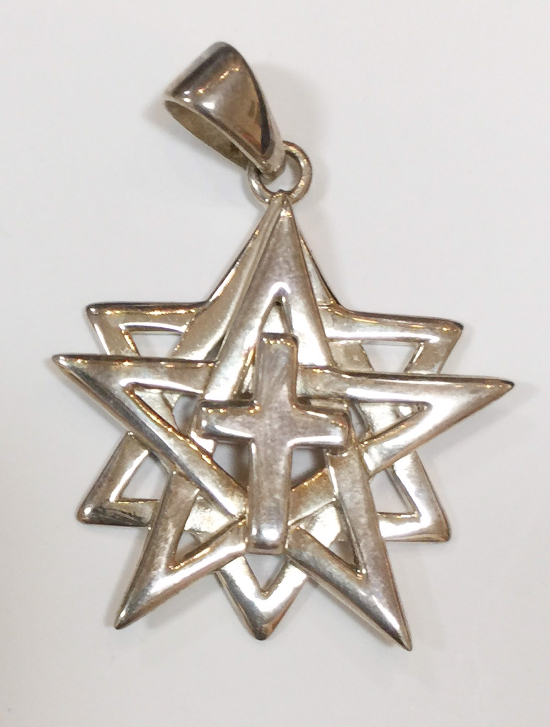 Pendant - The World Cross of Sterling Silver 7568 by Deanne McKeown