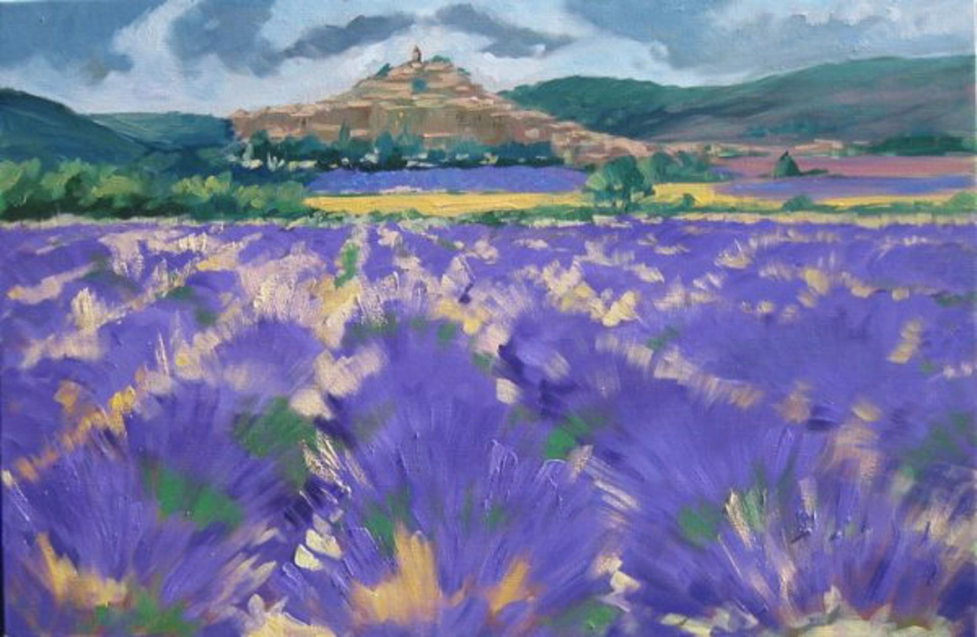 Storm Over Banon Lavender by Maria Bertrán