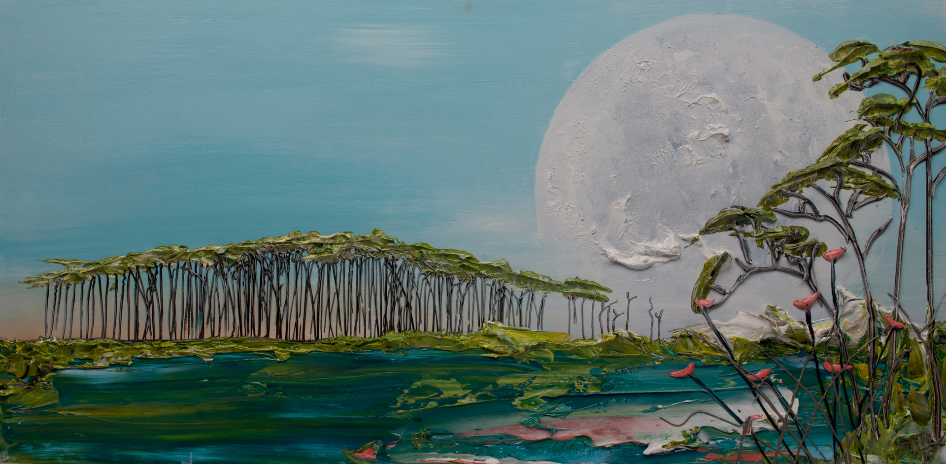 MOONSCAPE -MS-48X24-2019-235 by JUSTIN GAFFREY