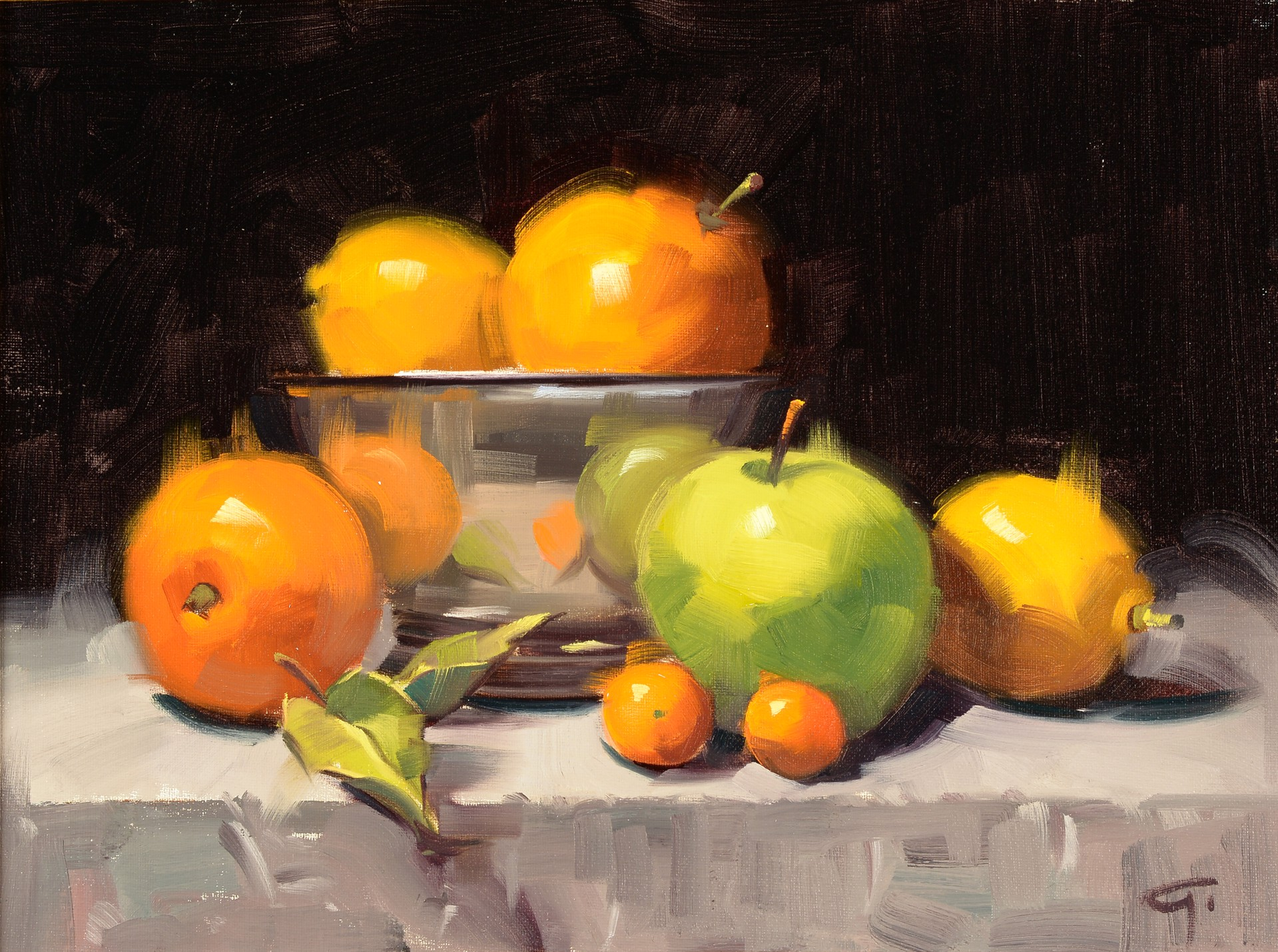 Still-Life with Green Apple by Gerald Griffin