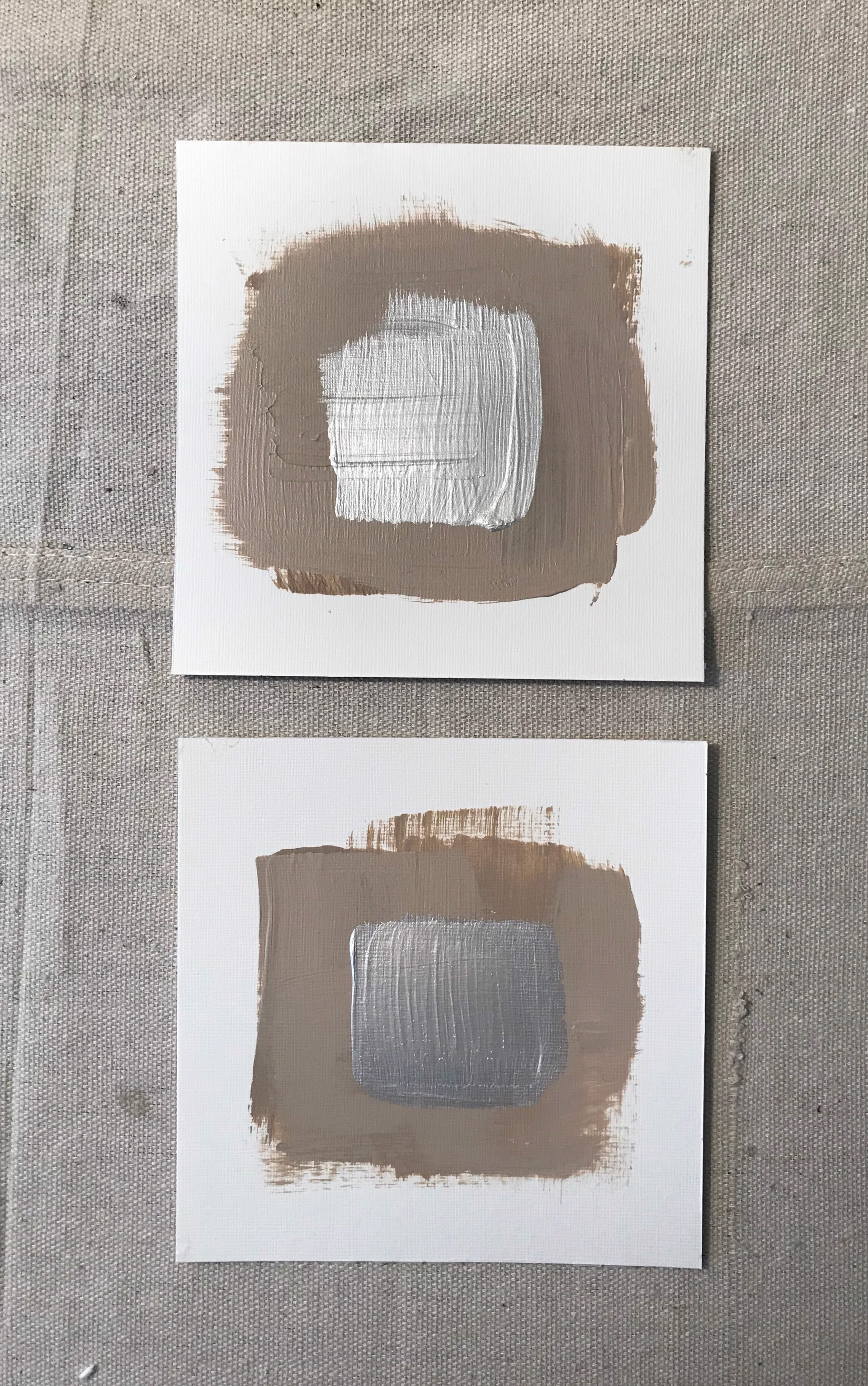 Taupe Squares by Leslie Poteet Busker