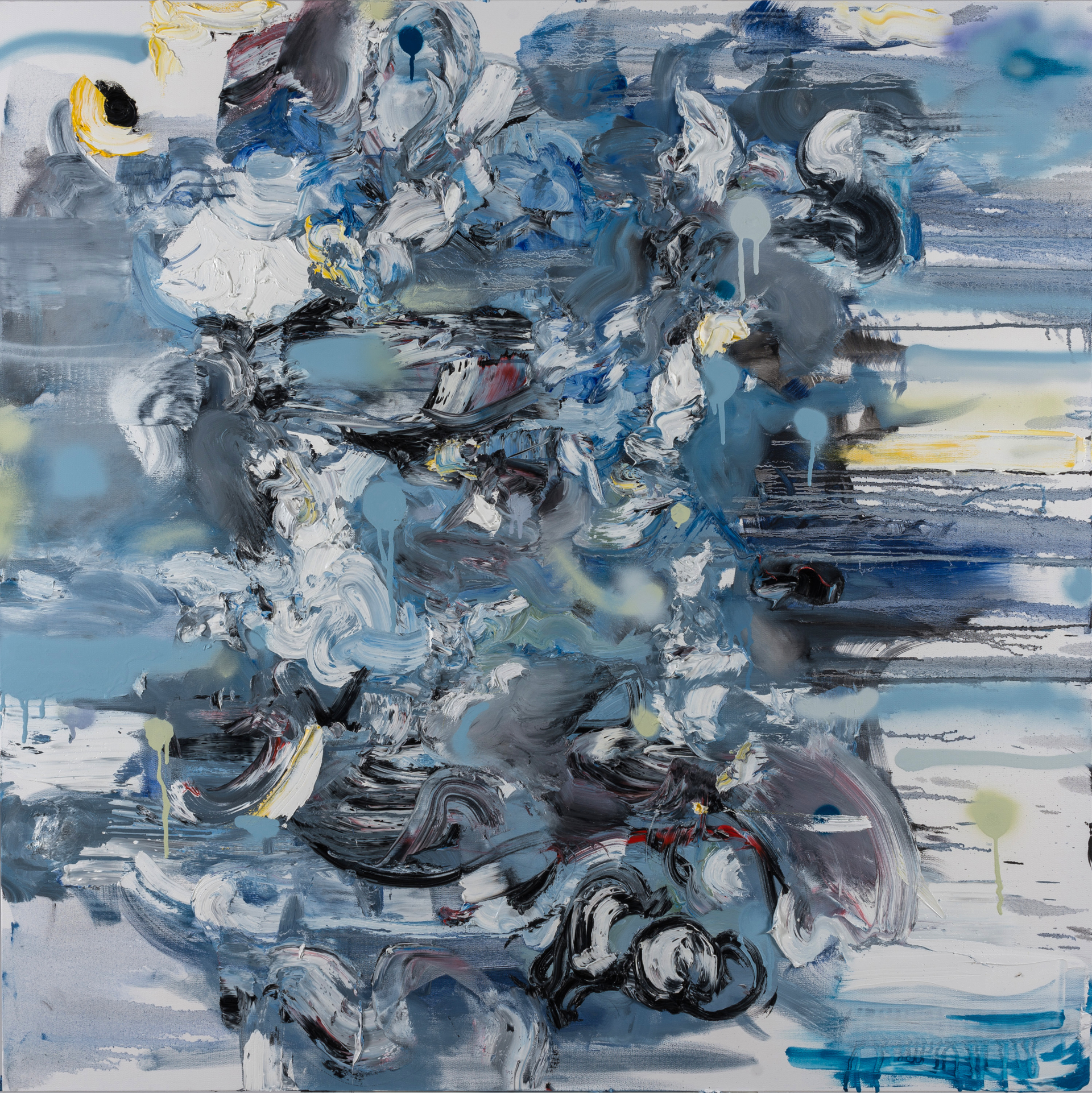 Untitled (Composition in Blue) (Sold) by Doug Kacena