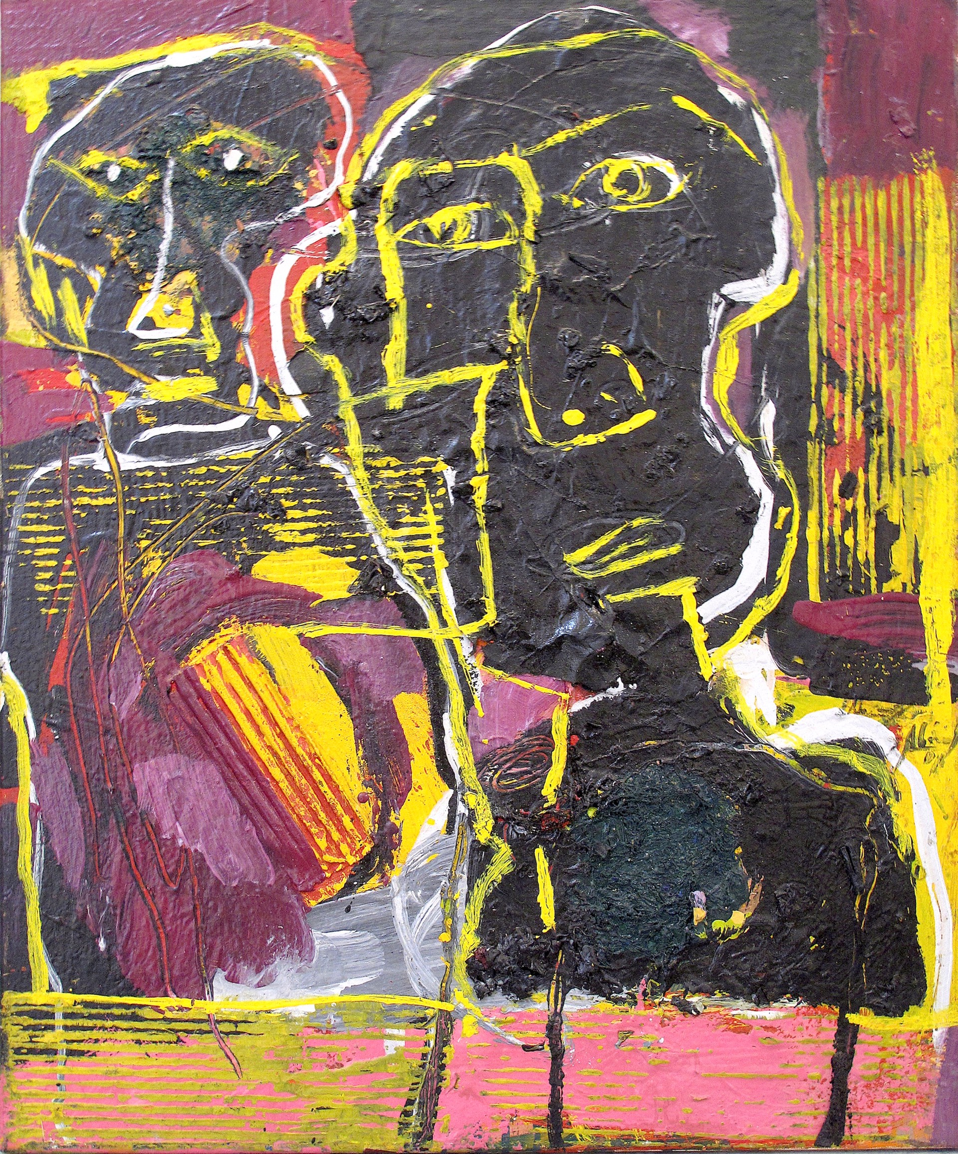 Untitled (Two Portraits) by Alejandro Santiago