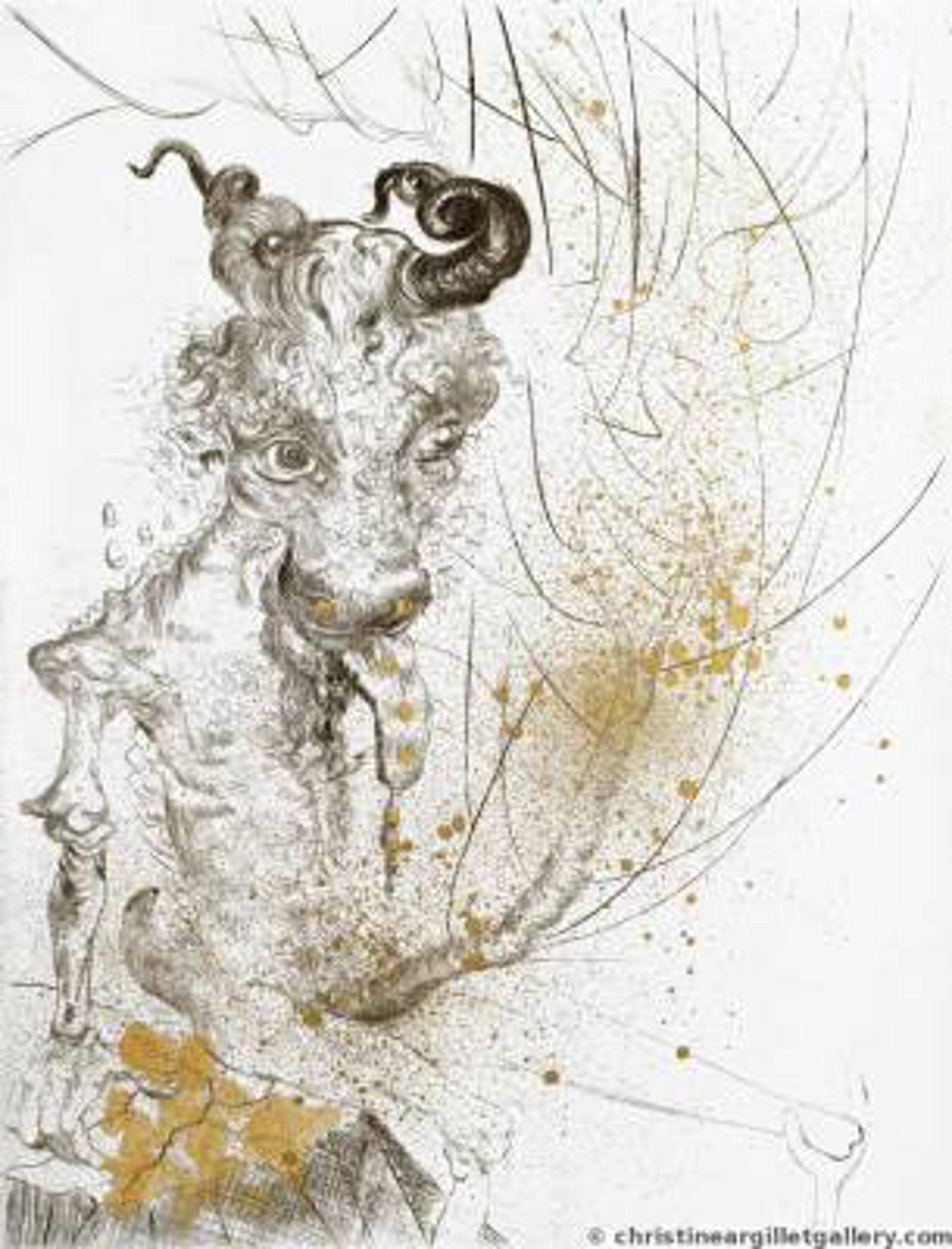 "Faust ""Golden Veal"" by Salvador Dali"