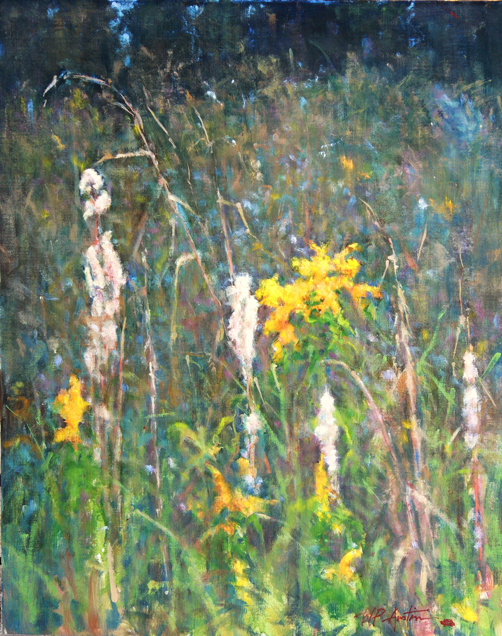 Broomsedge and Golden Rods by Perry Austin