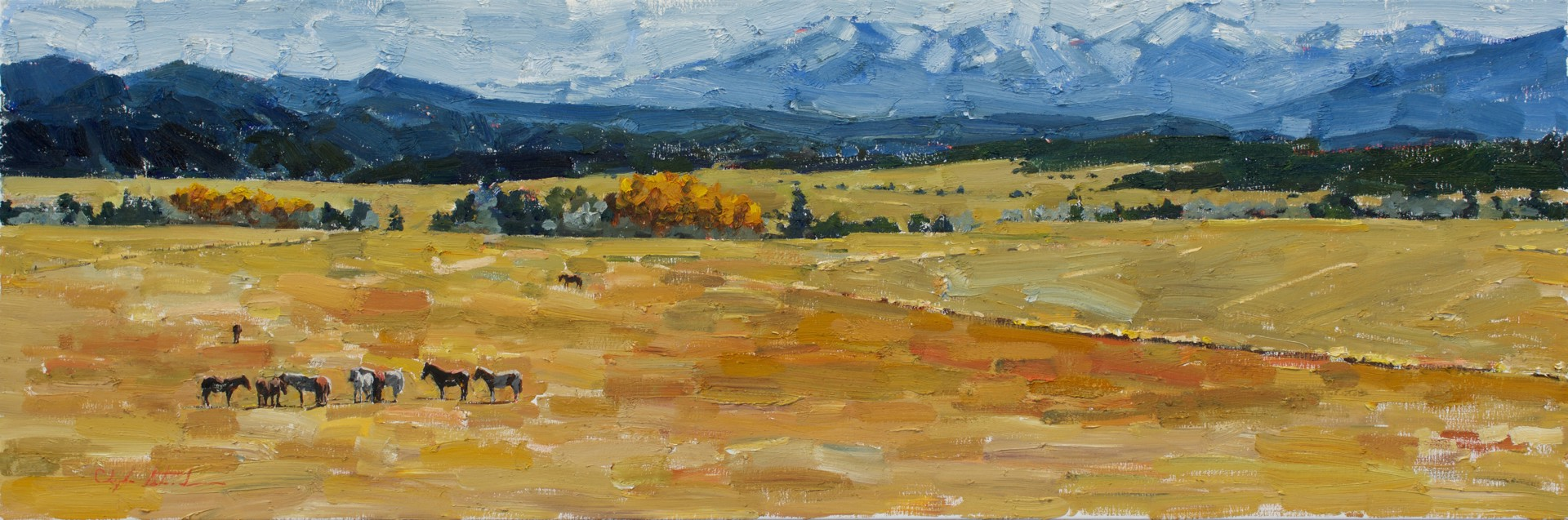 Arkansas River Valley by Clyde Steadman