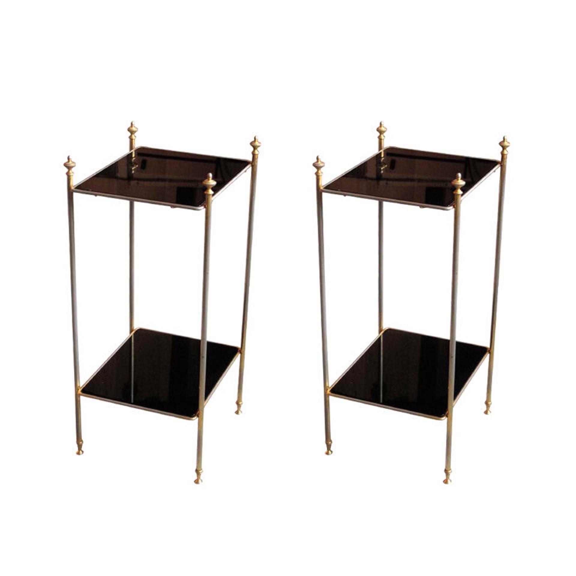 Side tables manner of  Jansen by Vintage Jansen