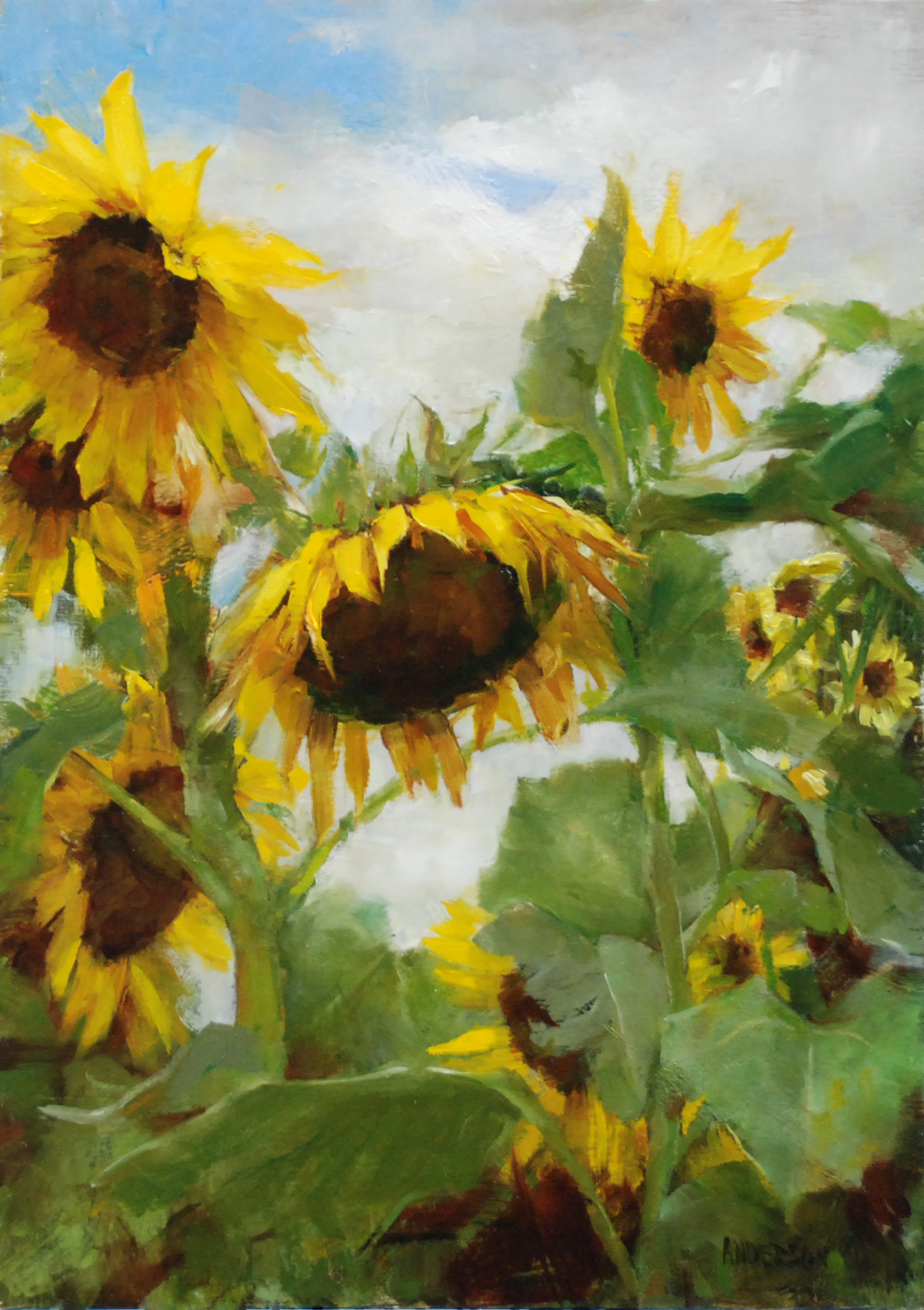 Blue Skies and Sunflowers by Kathy Anderson