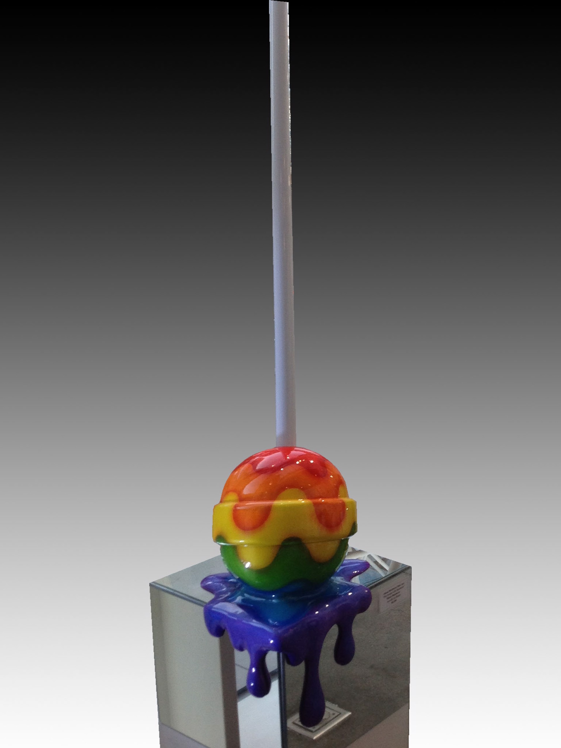 """The Sweet Life"" Medium Rainbow Corner Drip by Elena Bulatova"