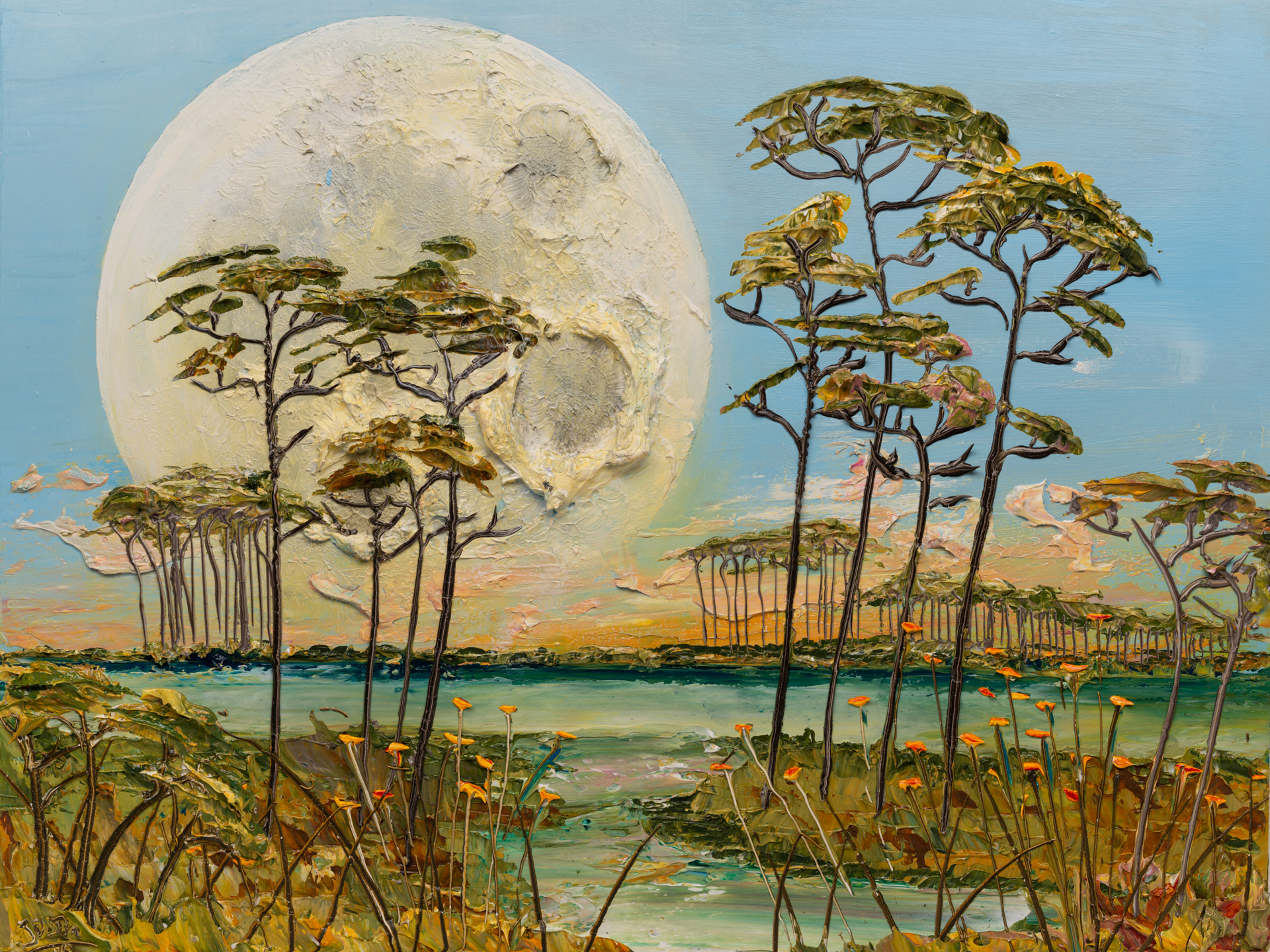 MOONSCAPE MS-40x30-2019-308 by JUSTIN GAFFREY