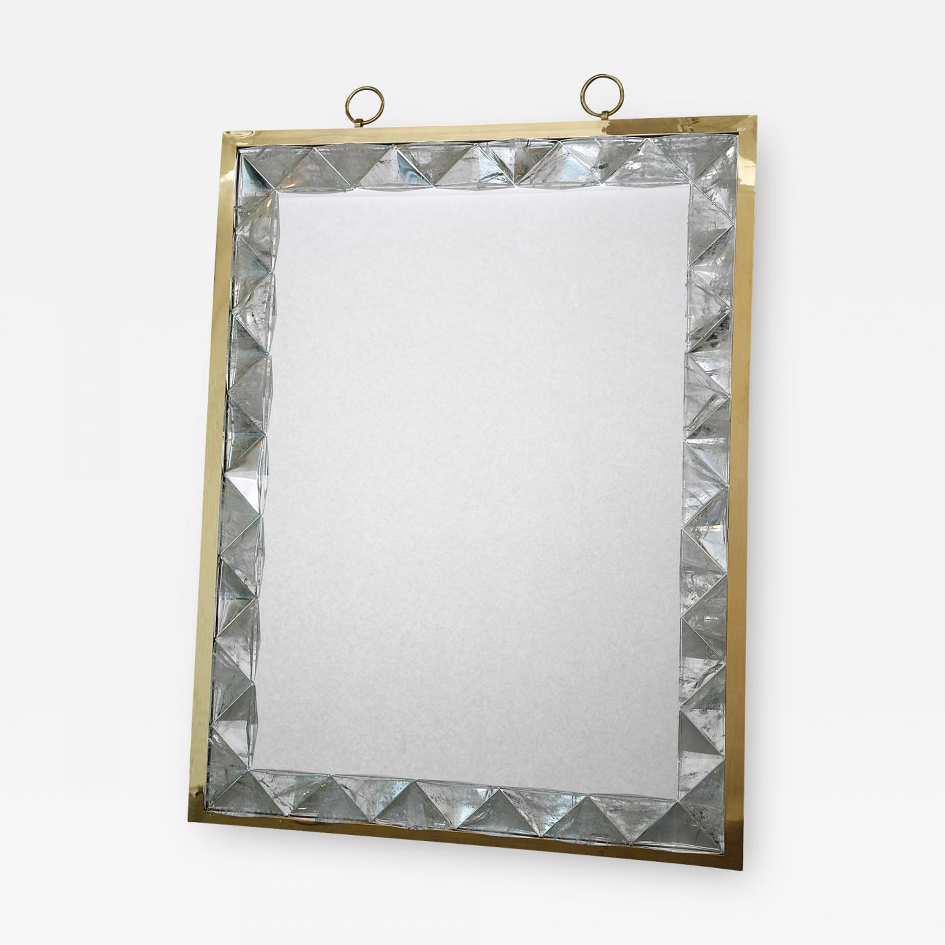 Mirror framed in rock crystal  by Andre Hayat