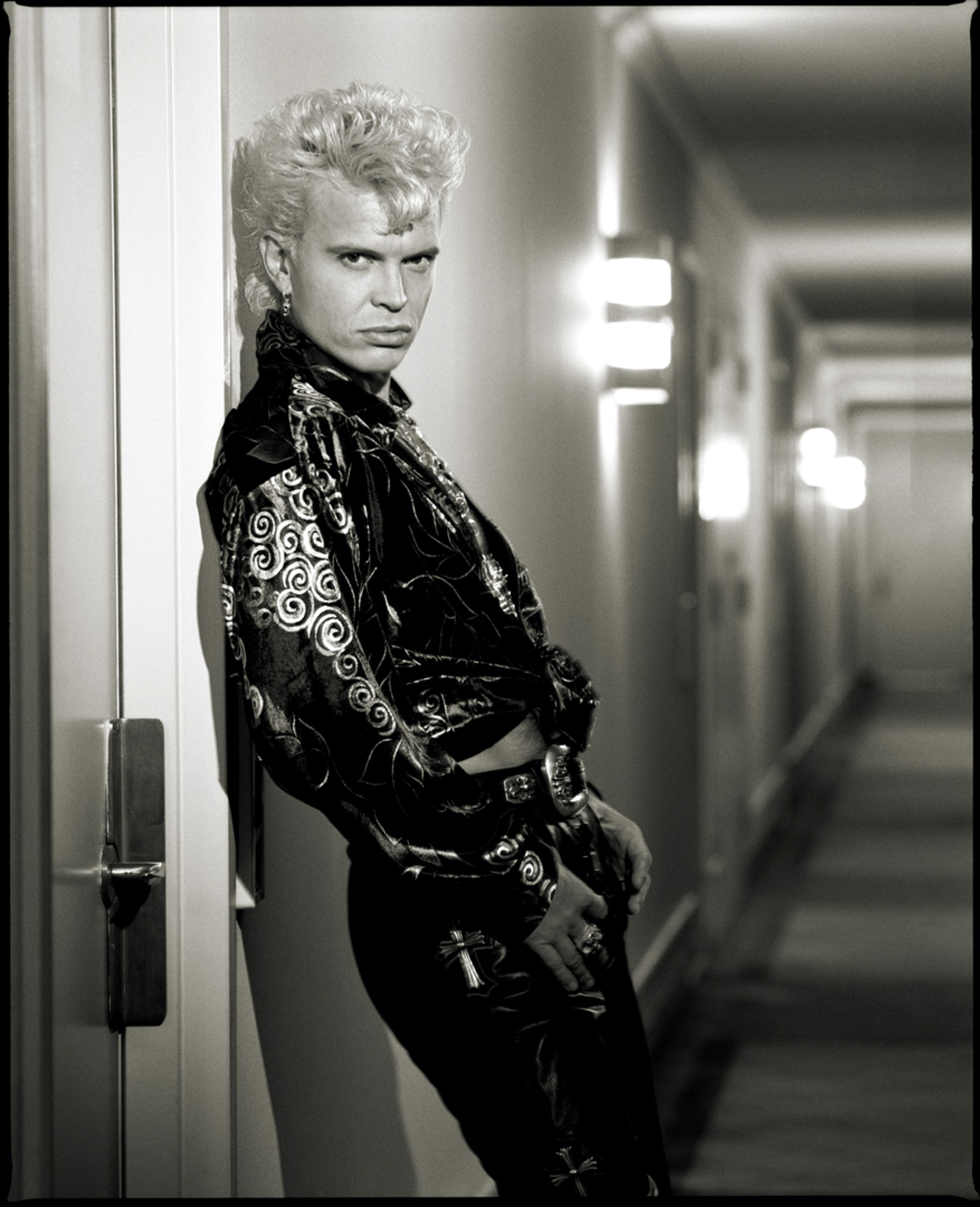 90109 Billy Idol 3 BW by Timothy White