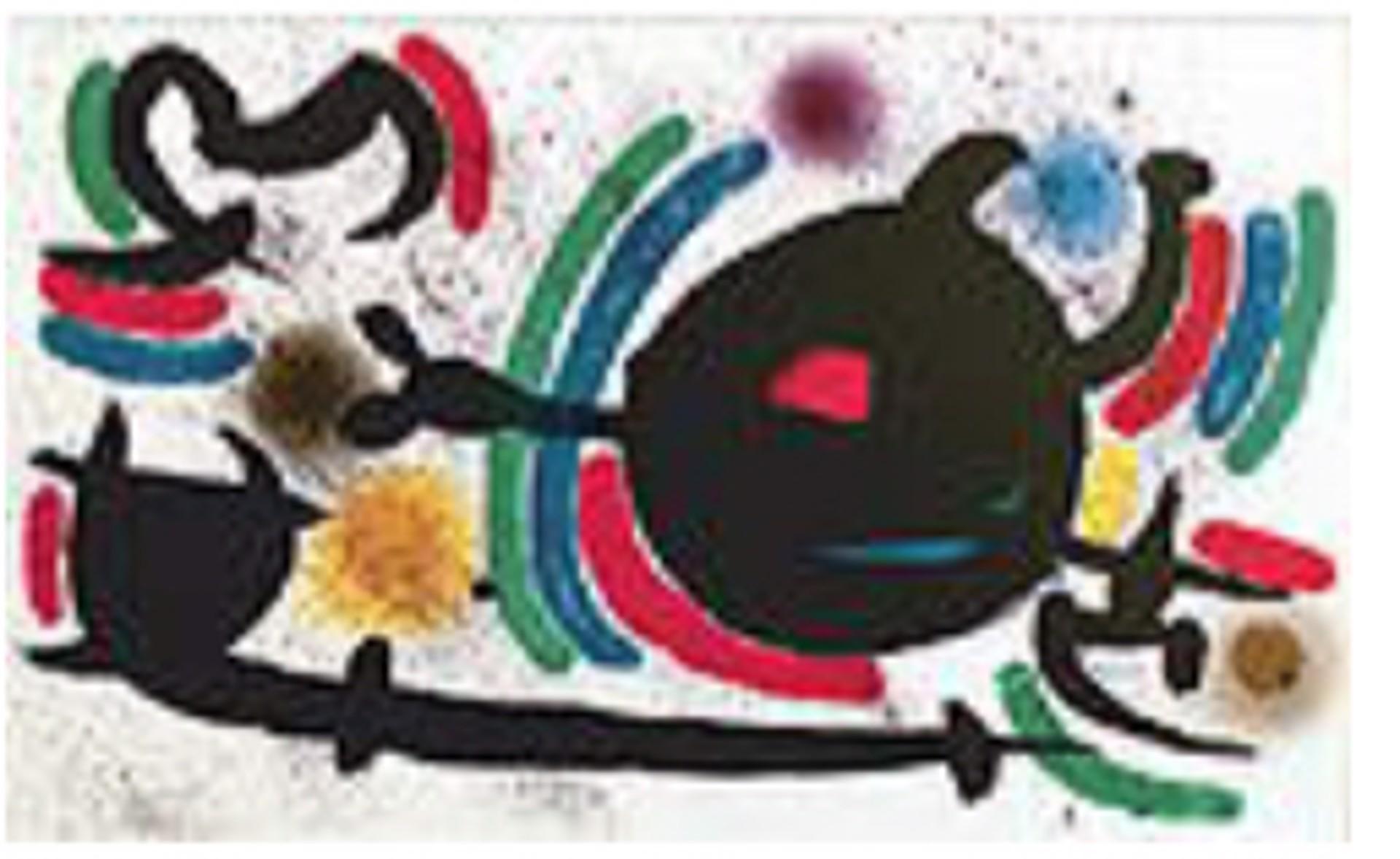 Miro Lithographs Volume I Plate X by Joan Miro (1893 - 1983)