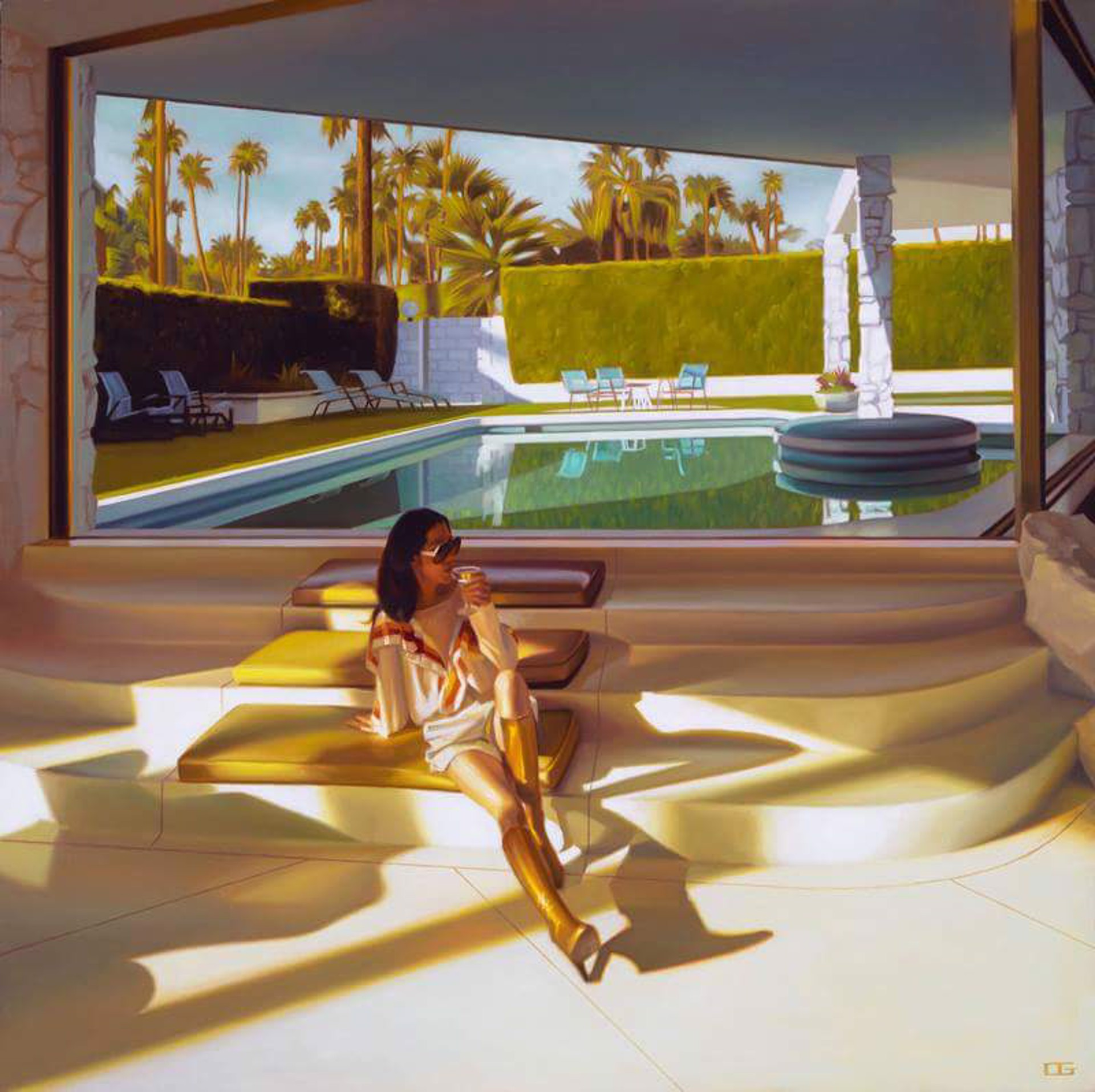 Gold and Martinis (S/N) by Carrie Graber