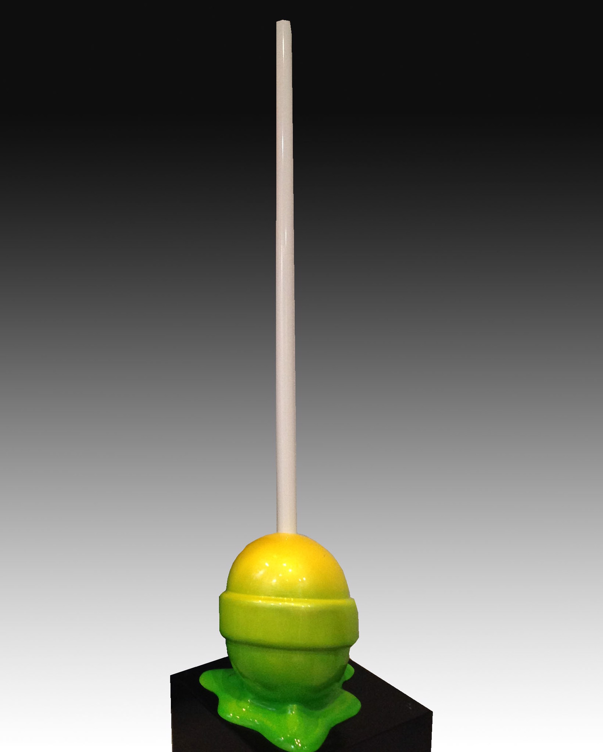 """the Sweet Life"" Medium Yellow/Green Ombre Puddle lollipop by Elena Bulatova"