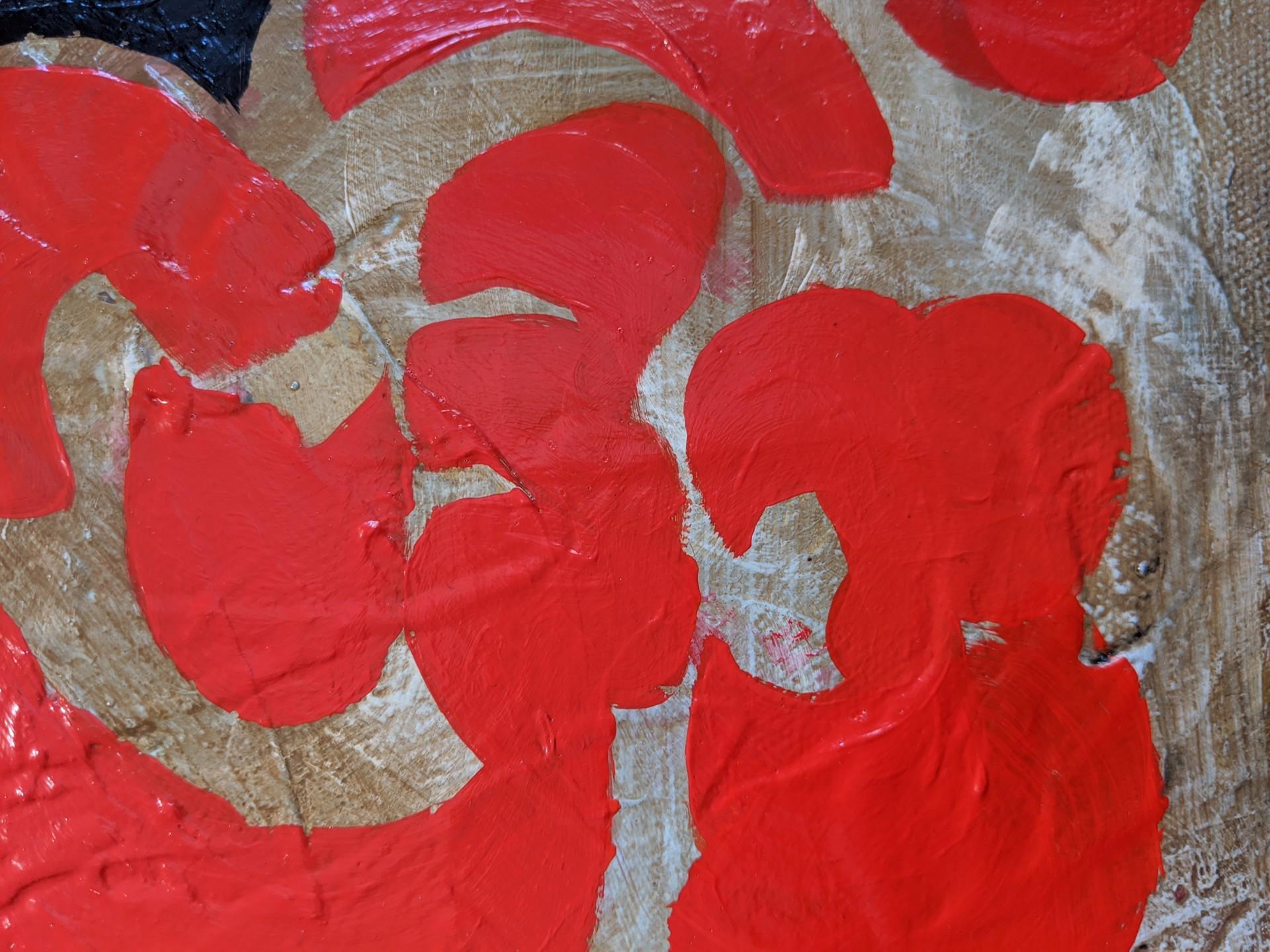 Garden Red & Black by Helen Bellaver