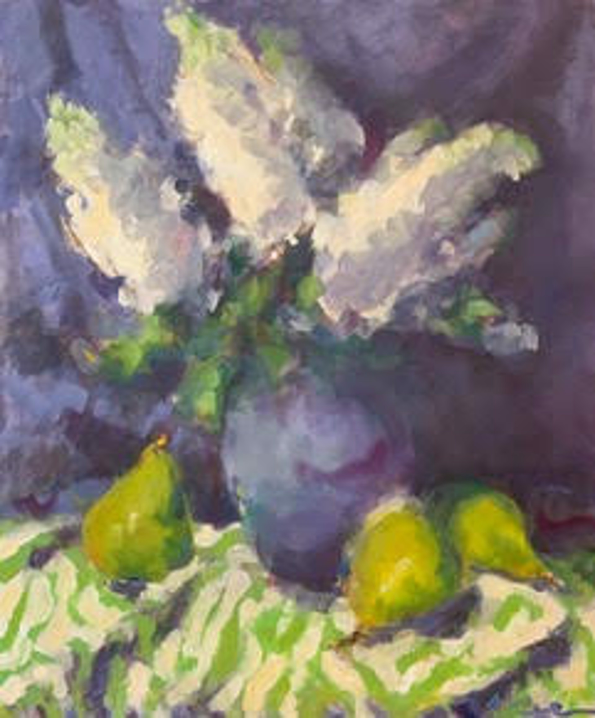 Hydrangeas, Pears and Green by Angela Powers