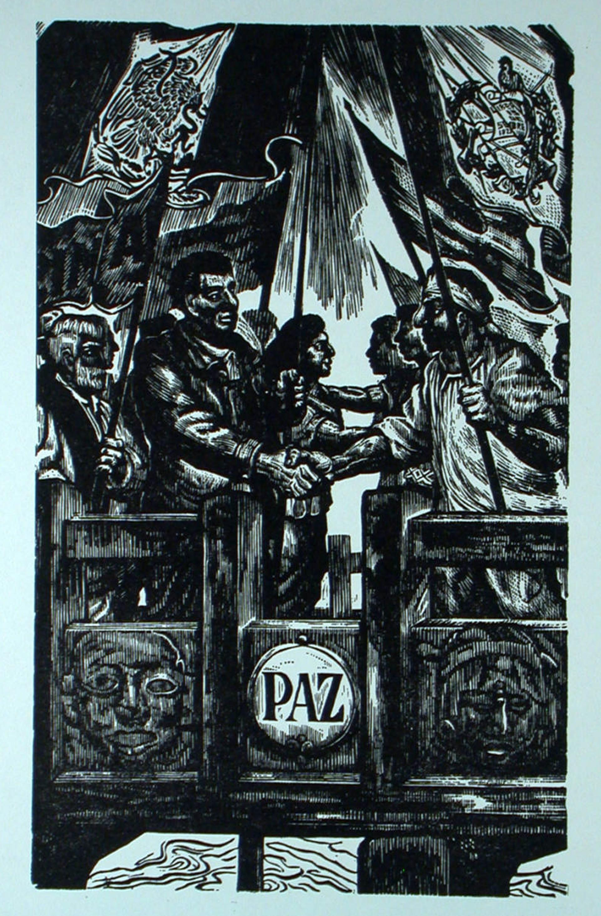 La Amistad de México y Guatemala by Ángel Bracho (1911 - 2005)