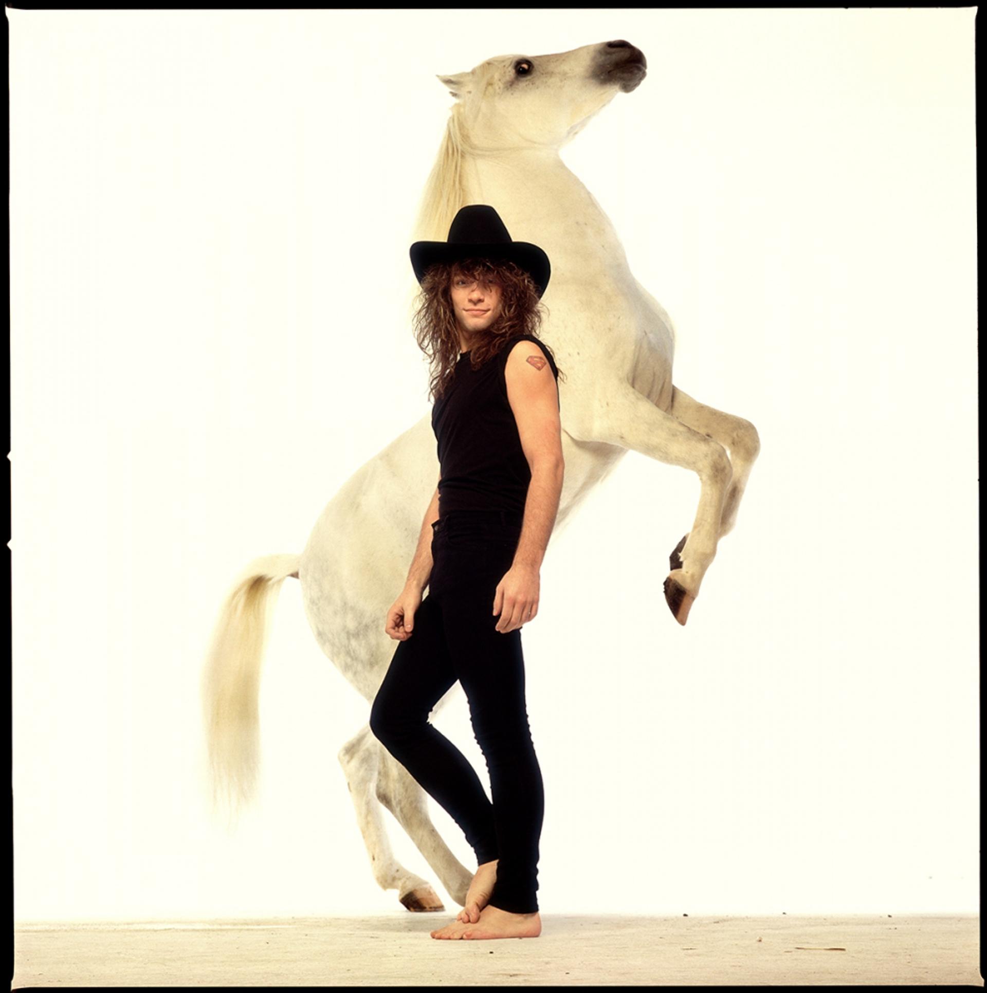 88215 Jon Bon Jovi Horse Rolling Stone Color by Timothy White