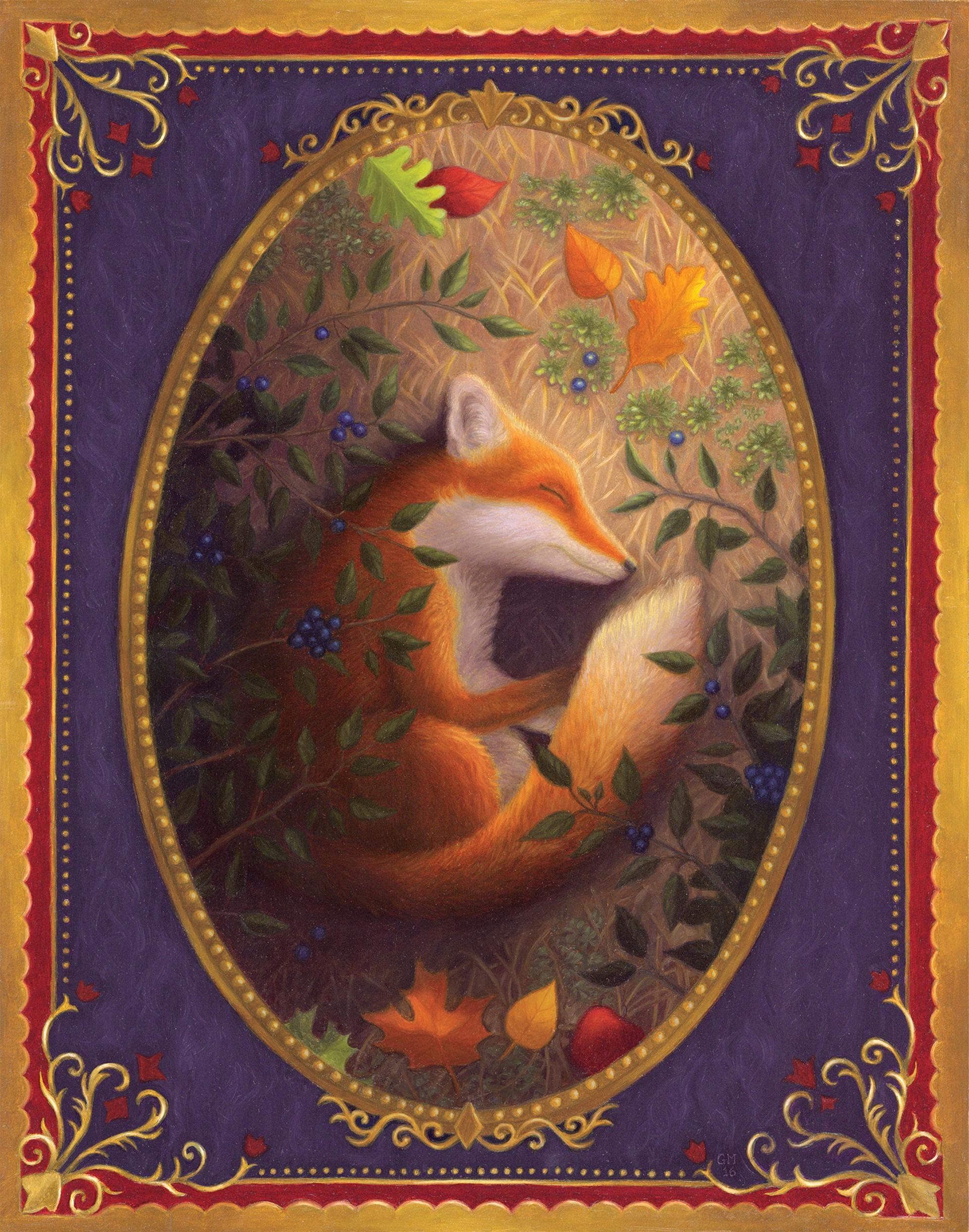 Fox Sleeping by Gina Matarazzo