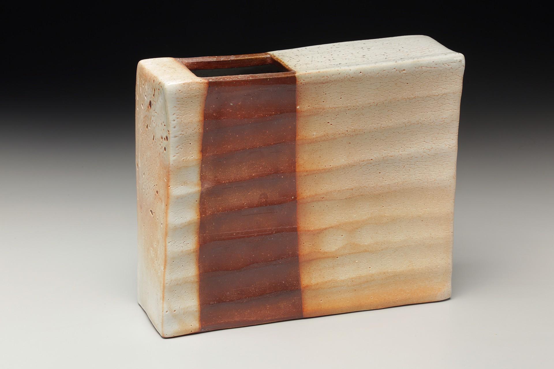 Asymmetrical Vase Dry Shino by Nancy Green