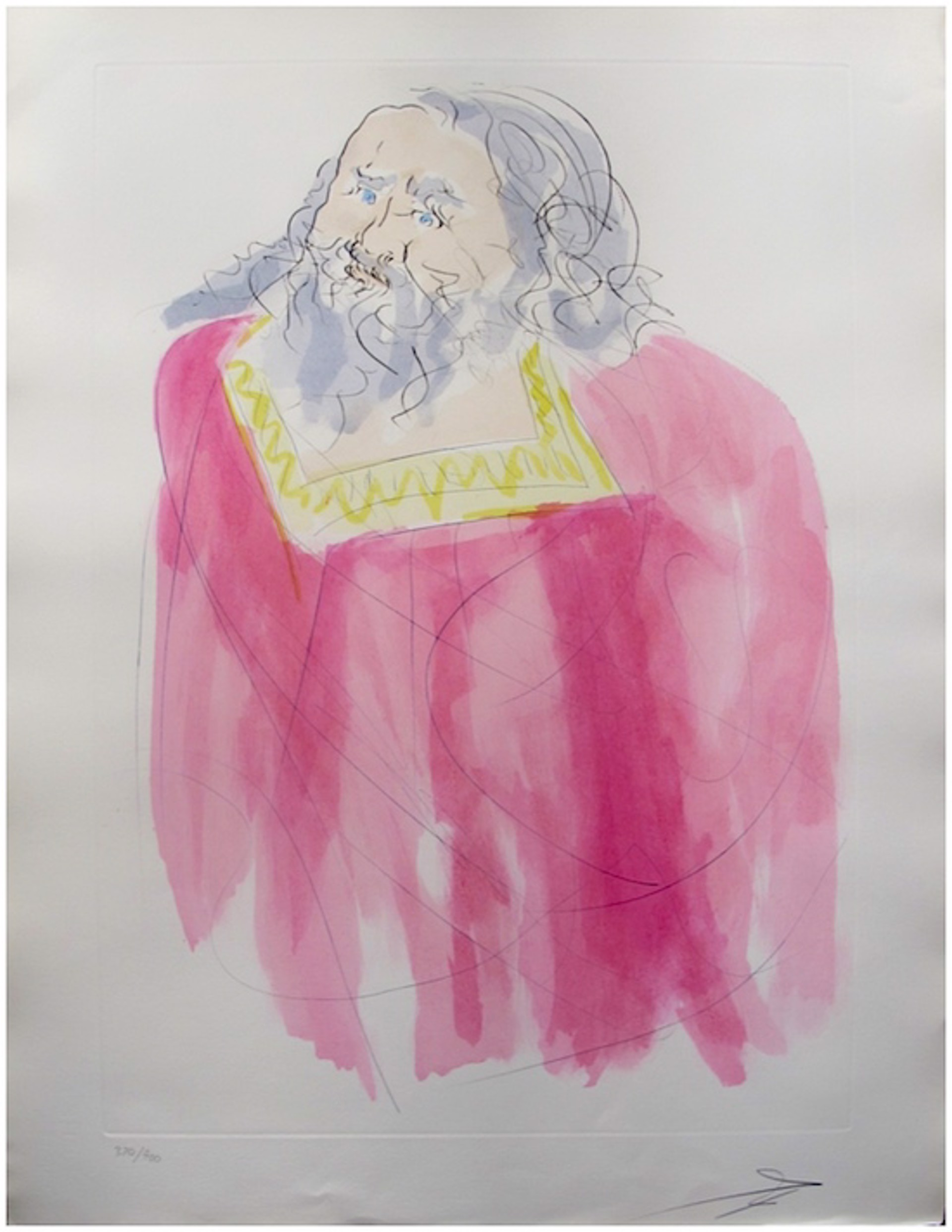 Jeremiah (from Our Historical Heritage, suite of 11) by Salvador Dali