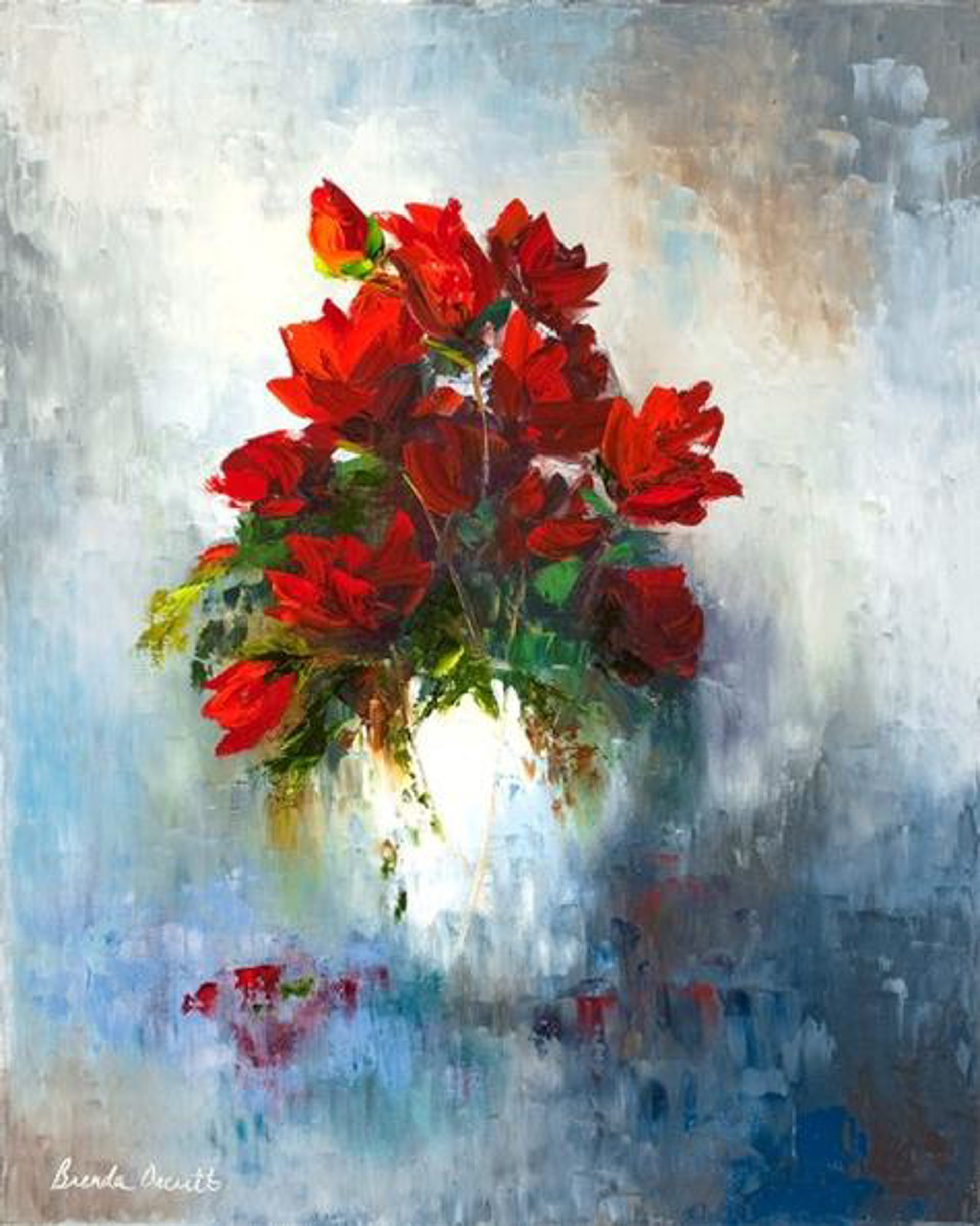 Crimson and Porcelain by Brenda Orcutt, Giclee--Prints