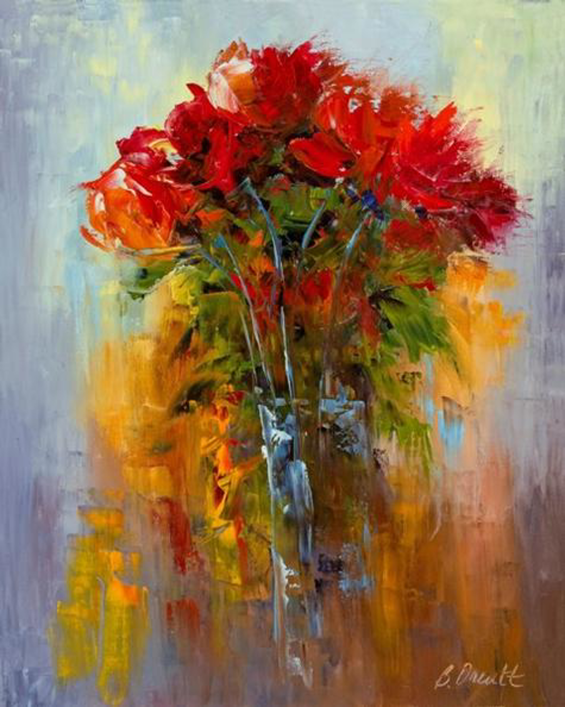 Red Bouquet by Brenda Orcutt, Giclee--Prints