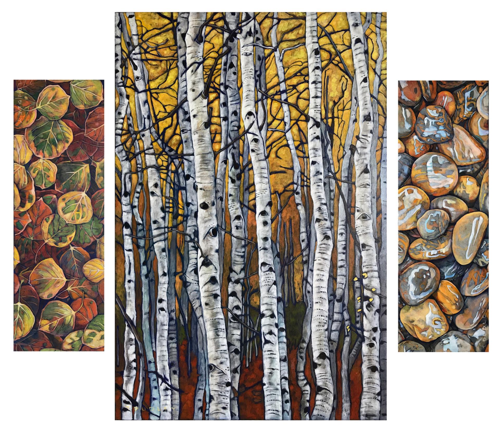 Aspen Triptych by Tracy Dudley