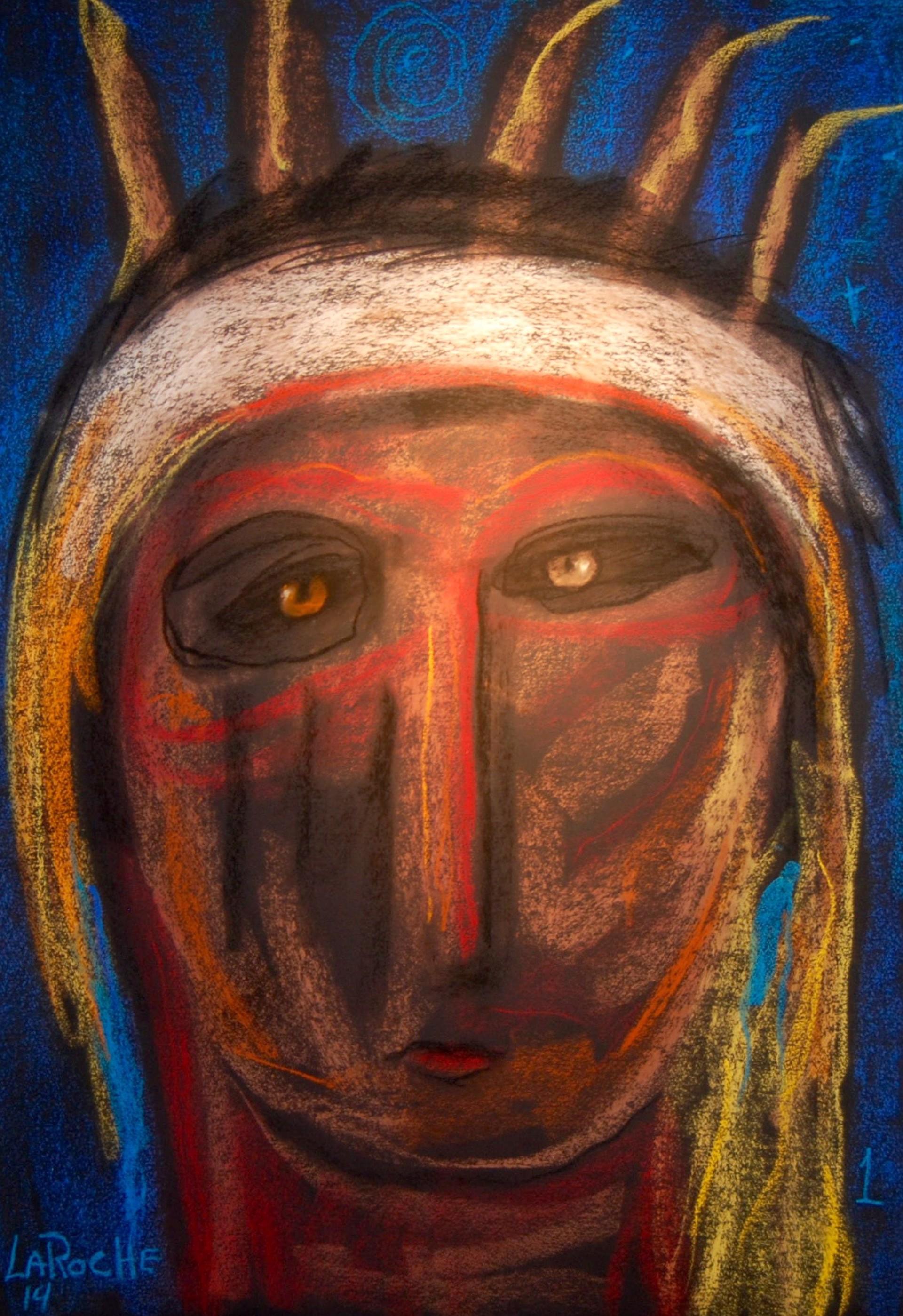 Guardian of the Tribe - Unframed by Carole LaRoche