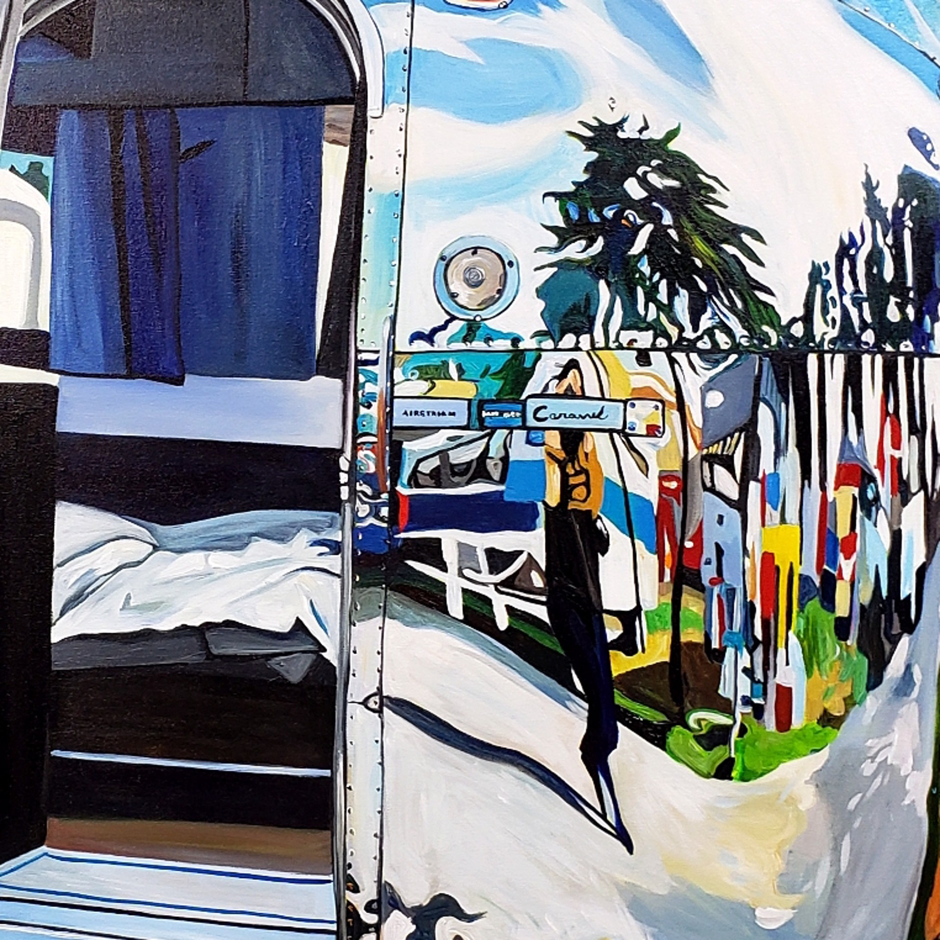 Airstream Self-Reflection, Lynden, WA by Taralee Guild