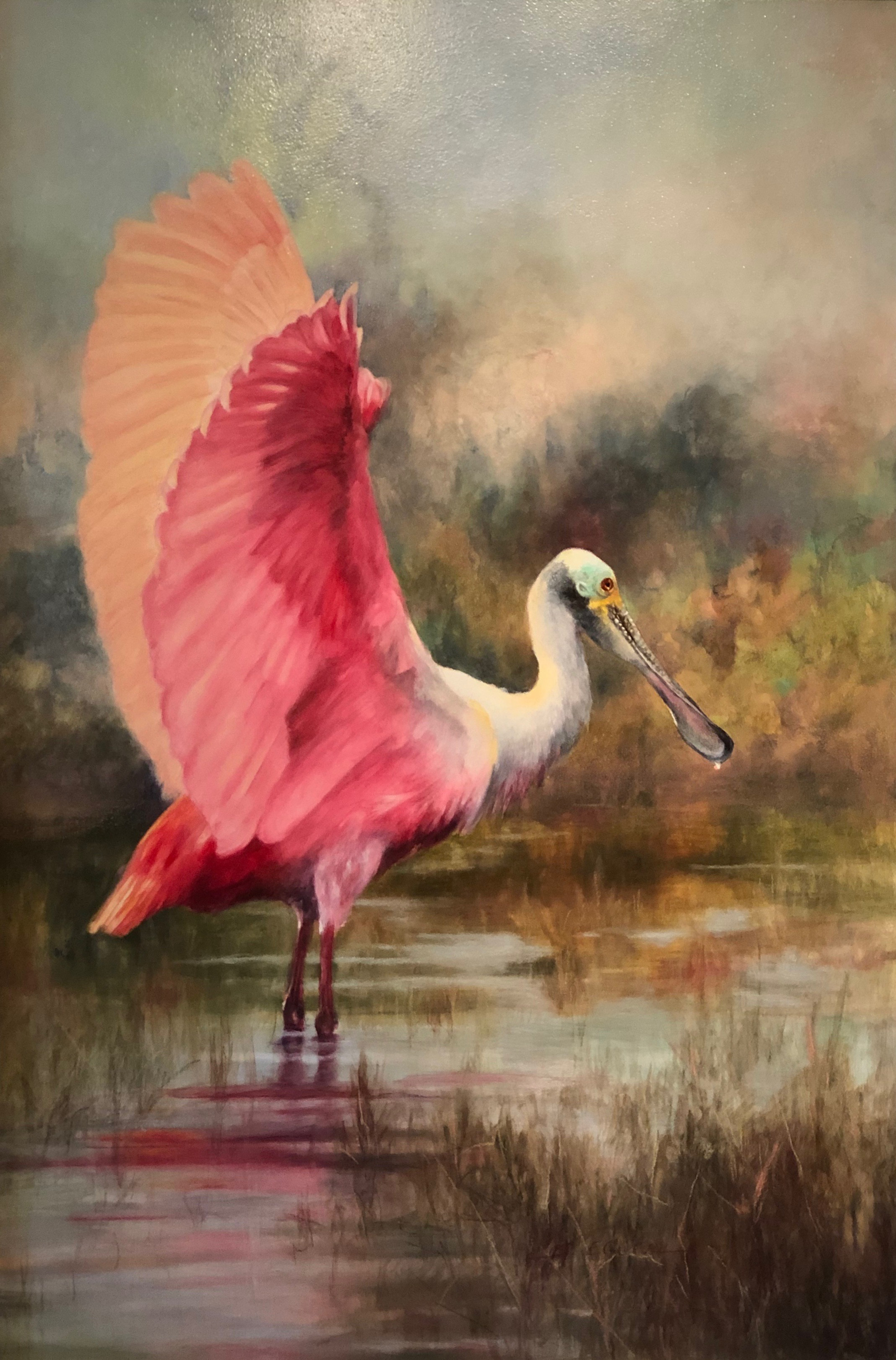 Spoonbill I by Sherry Egger