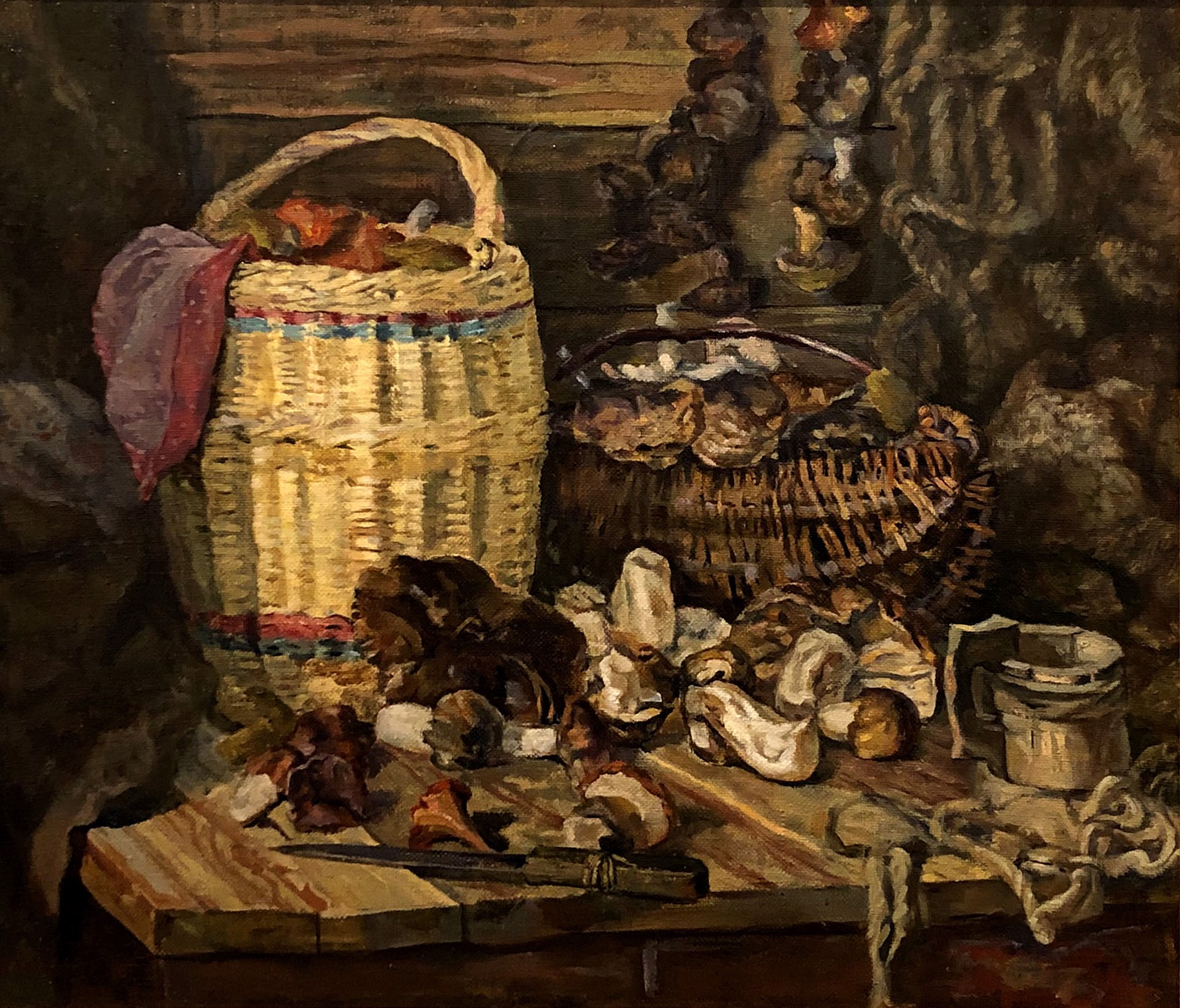 Vladimir Dmitrievivh Fefelov - Still Life With Basket by Russian Artists