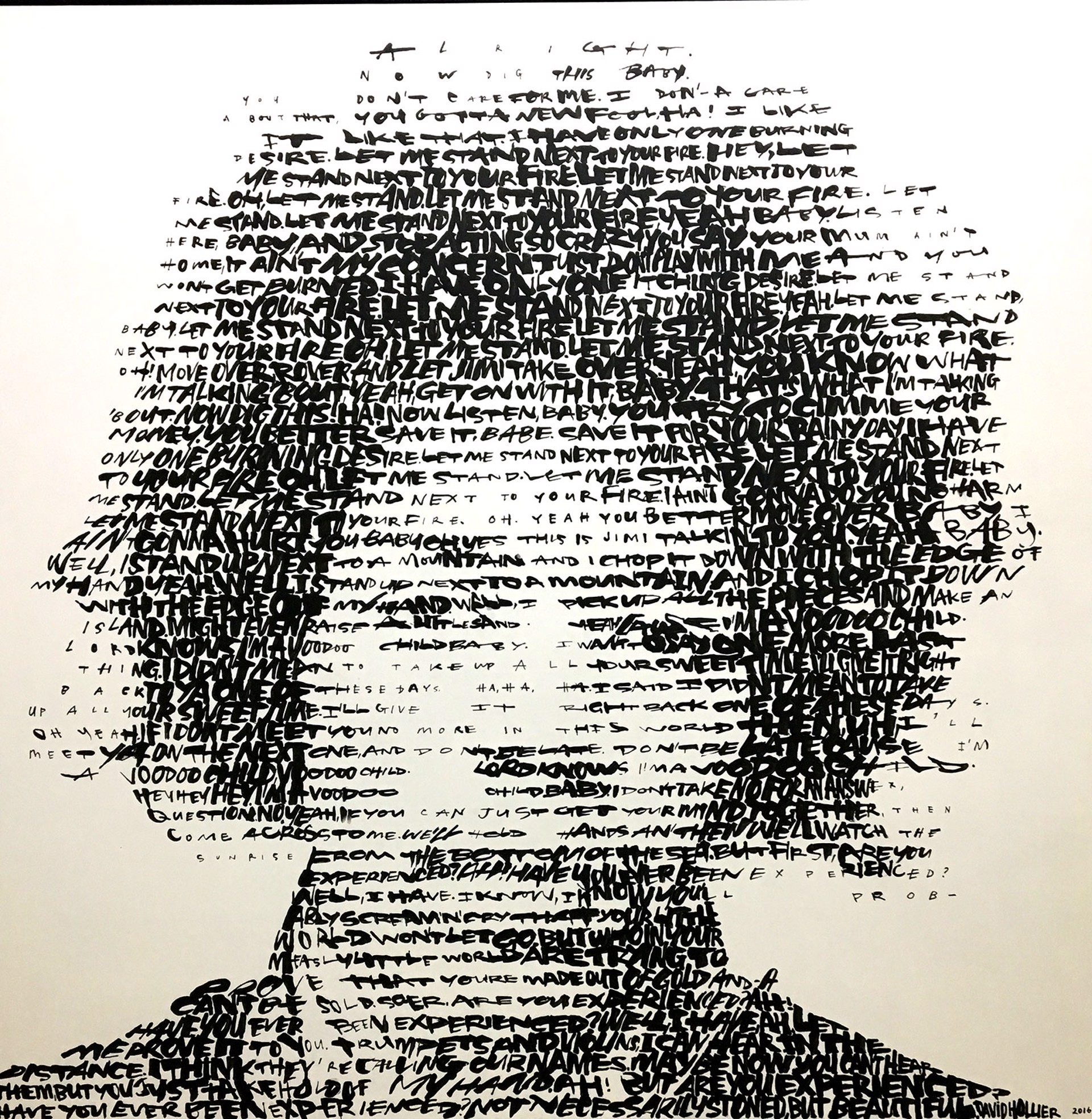 Jimi Hendrix (Text: 'Fire', 'Voodoo Child' and 'Are You Experienced') by David Hollier
