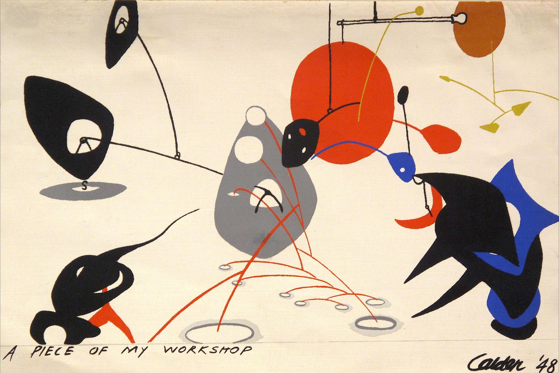 A Piece of My Workshop by Alexander Calder