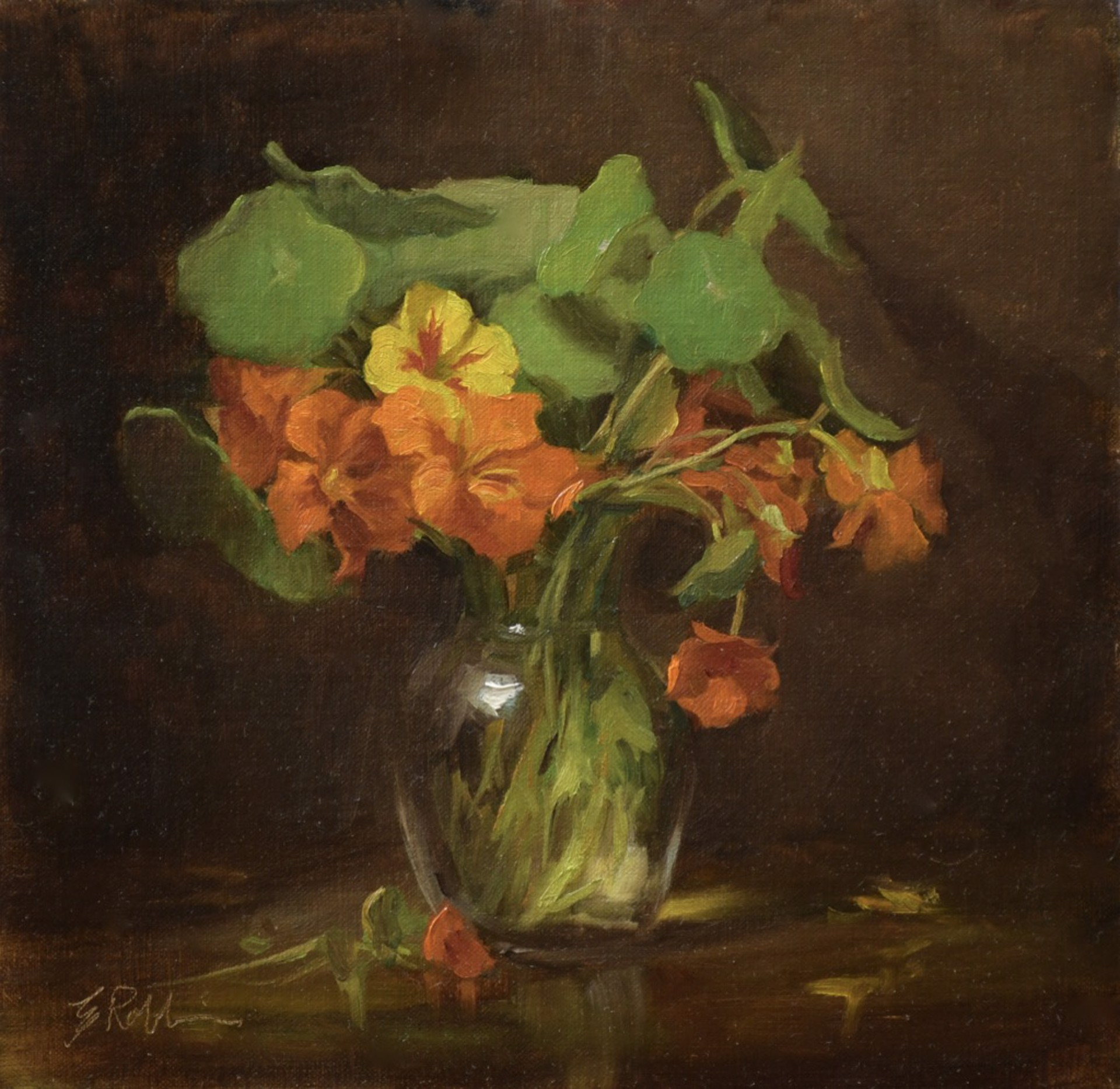 Orange Blooms by Elizabeth Robbins